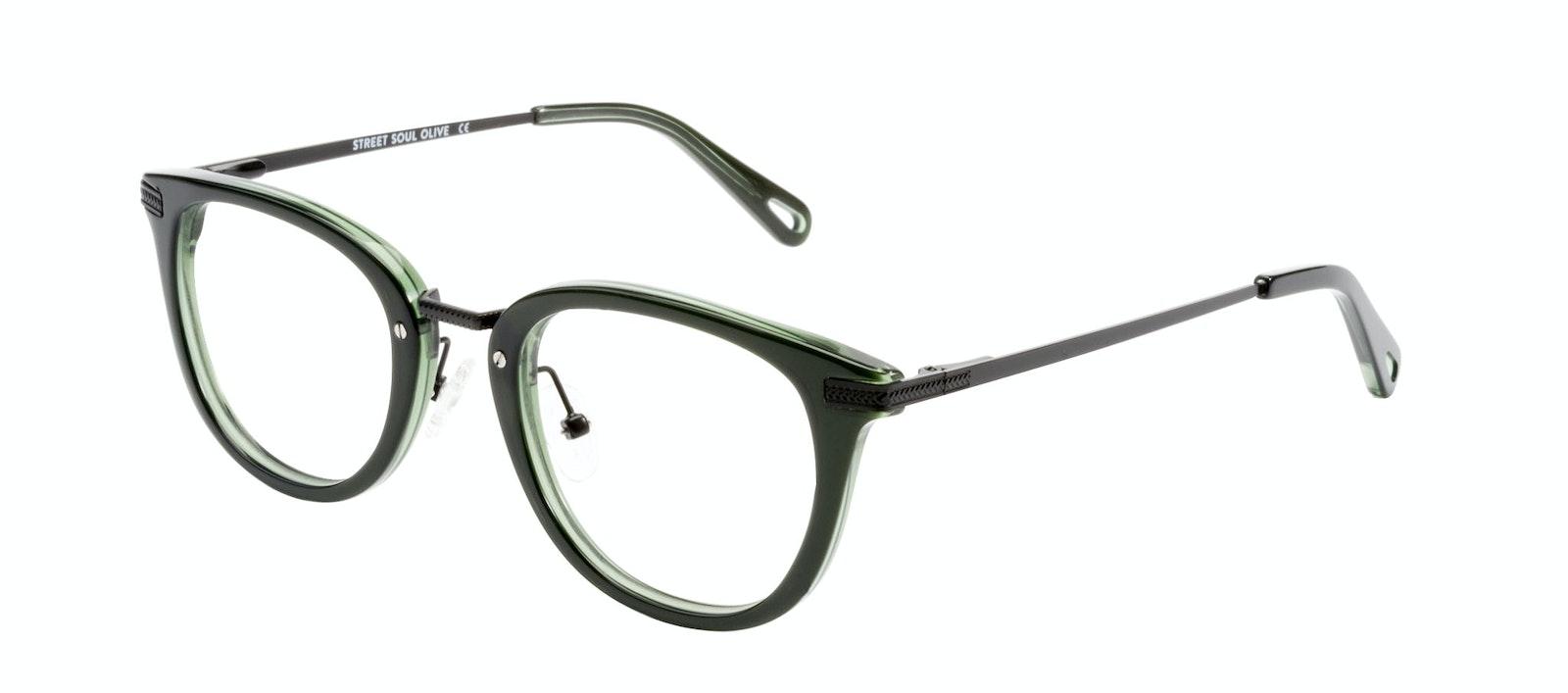 Affordable Fashion Glasses Rectangle Square Eyeglasses Men Street Soul Olive Tilt