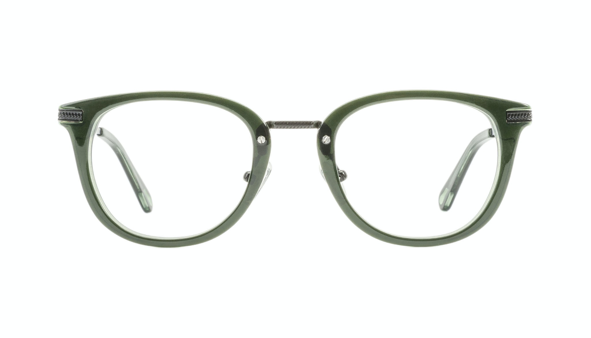 Affordable Fashion Glasses Rectangle Square Eyeglasses Men Street Soul Olive Front