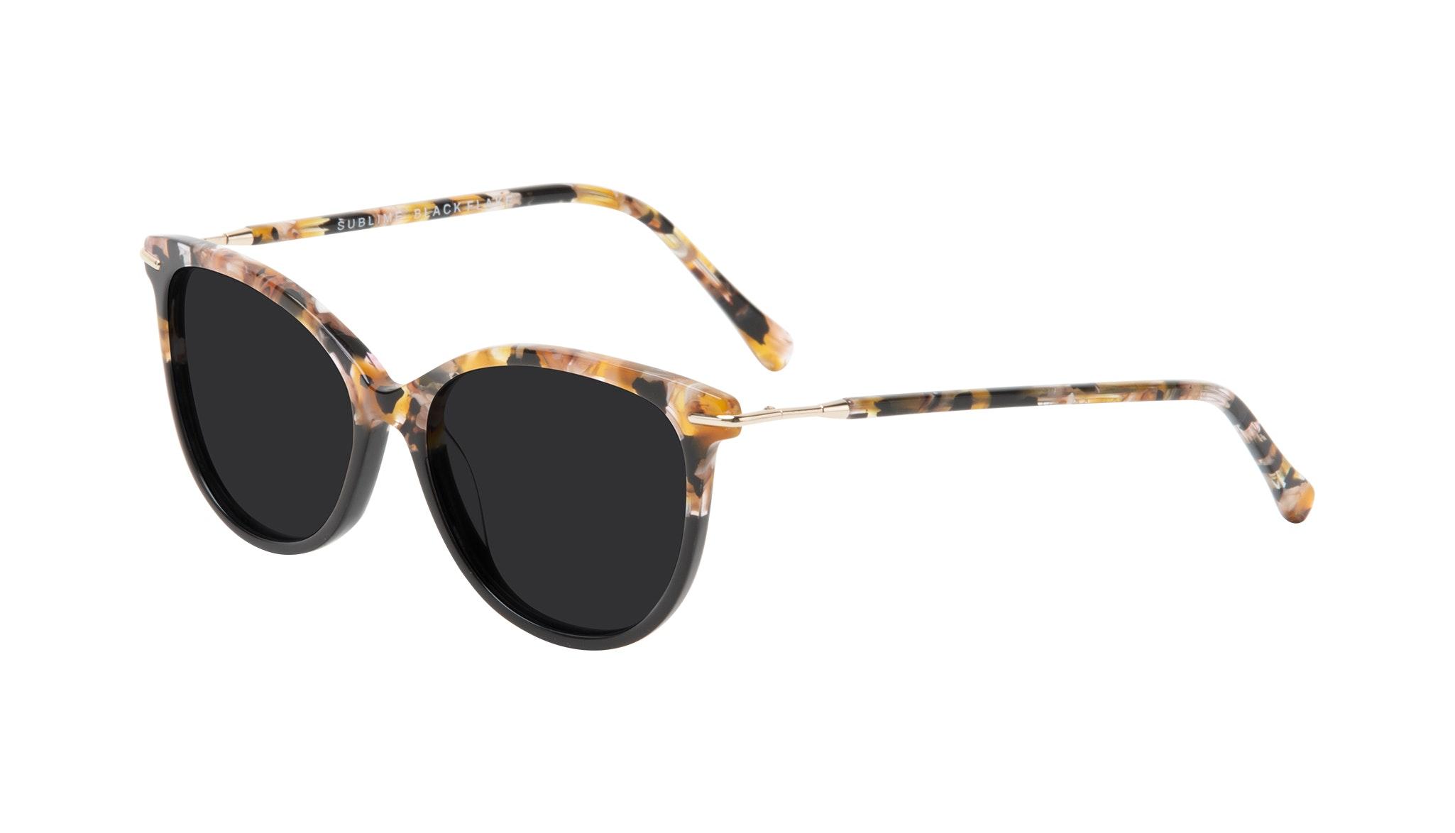 Affordable Fashion Glasses Round Sunglasses Women Sublime Black Flake Tilt