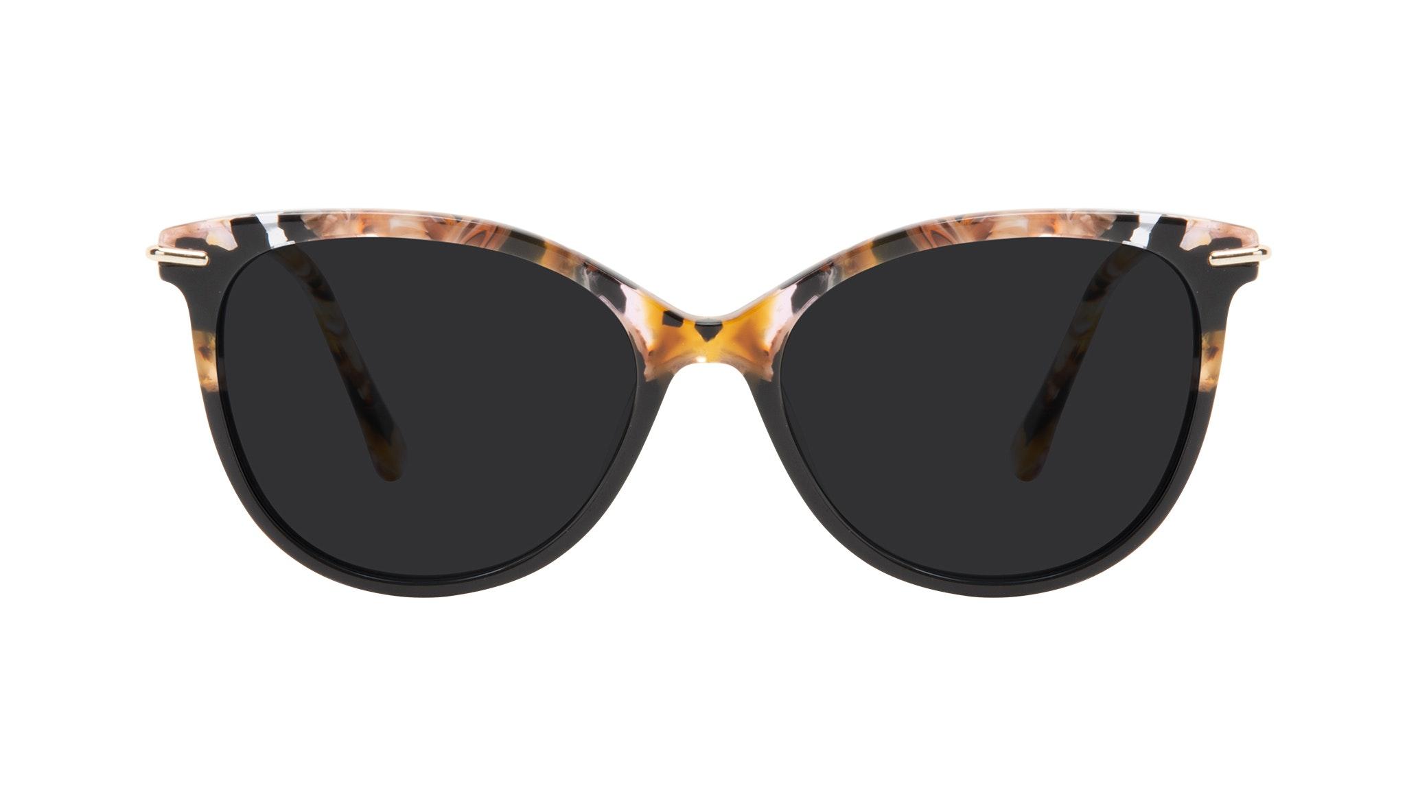 Affordable Fashion Glasses Round Sunglasses Women Sublime Black Flake Front
