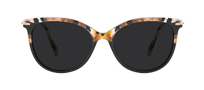 Affordable Fashion Glasses Round Sunglasses Women Sublime Black Flake Front