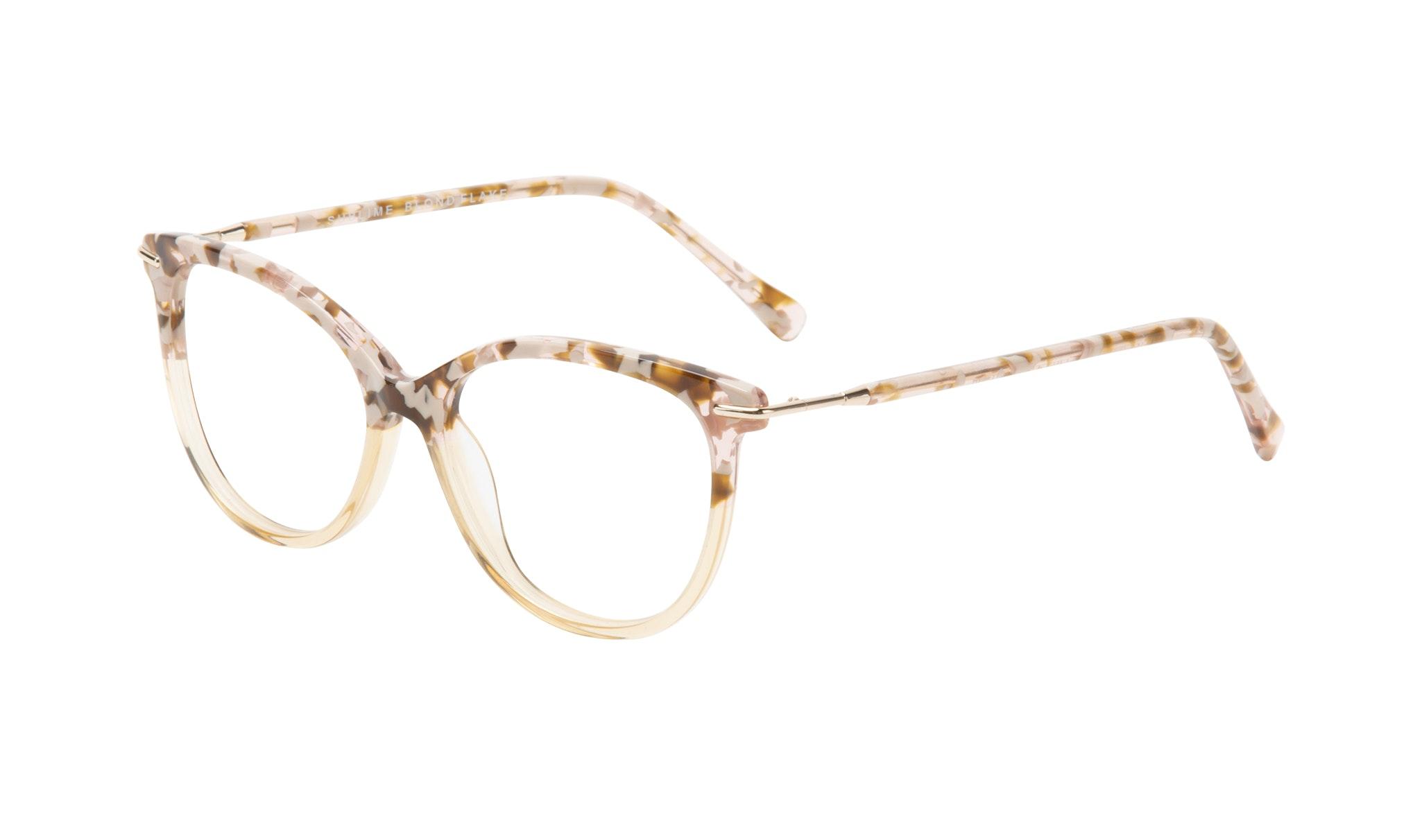 Affordable Fashion Glasses Round Eyeglasses Women Sublime Blond Flake Tilt