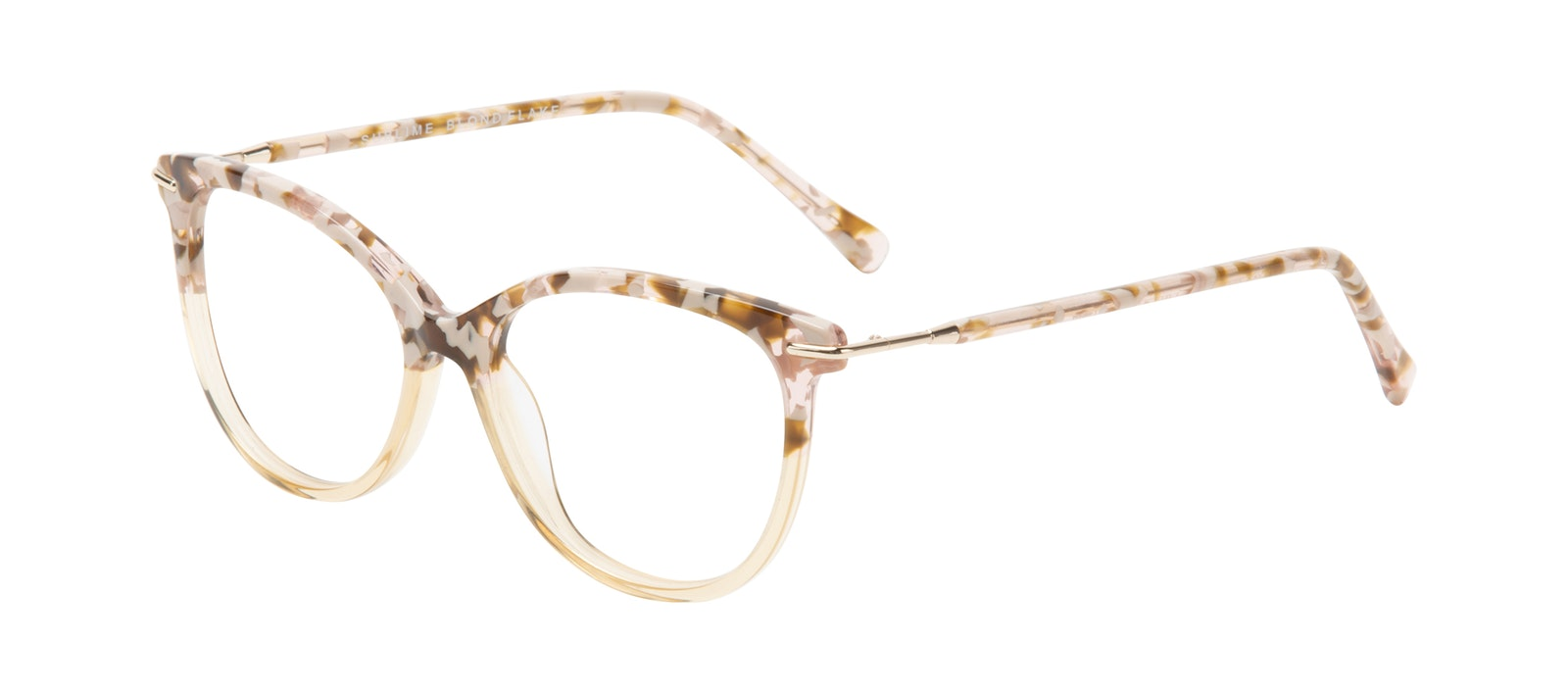 Affordable Fashion Glasses Round Eyeglasses Women Sublime Blond Flake Tilt