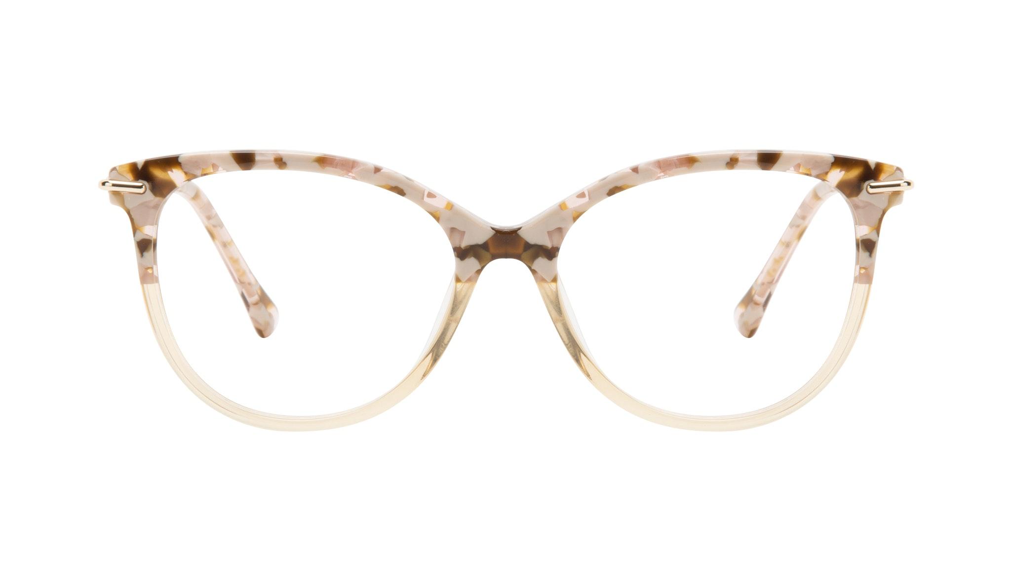 Affordable Fashion Glasses Round Eyeglasses Women Sublime Blond Flake Front