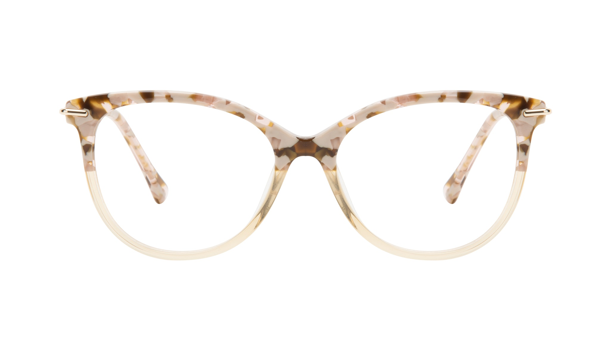 Affordable Fashion Glasses Round Eyeglasses Women Sublime Blond Flake