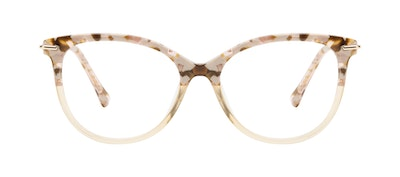 Affordable Fashion Glasses Round Eyeglasses Women Sublime Blond Flake Front