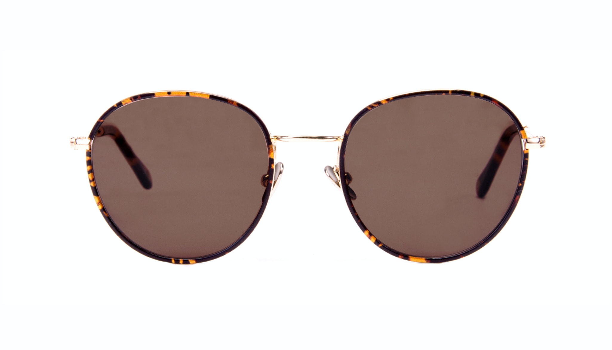Affordable Fashion Glasses Aviator Round Sunglasses Women Subrosa Fauve
