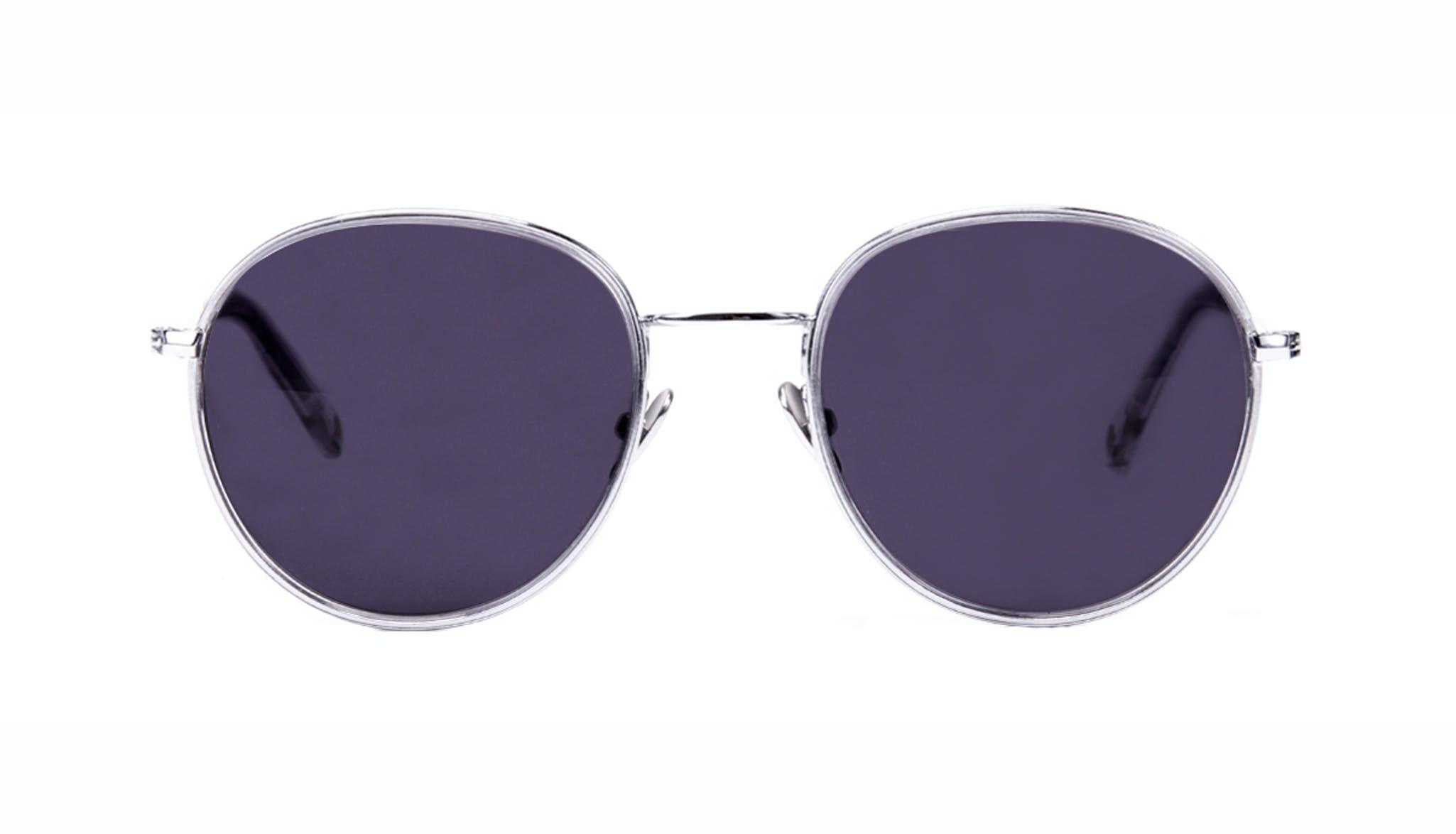 Affordable Fashion Glasses Aviator Round Sunglasses Women Subrosa Glacier Front
