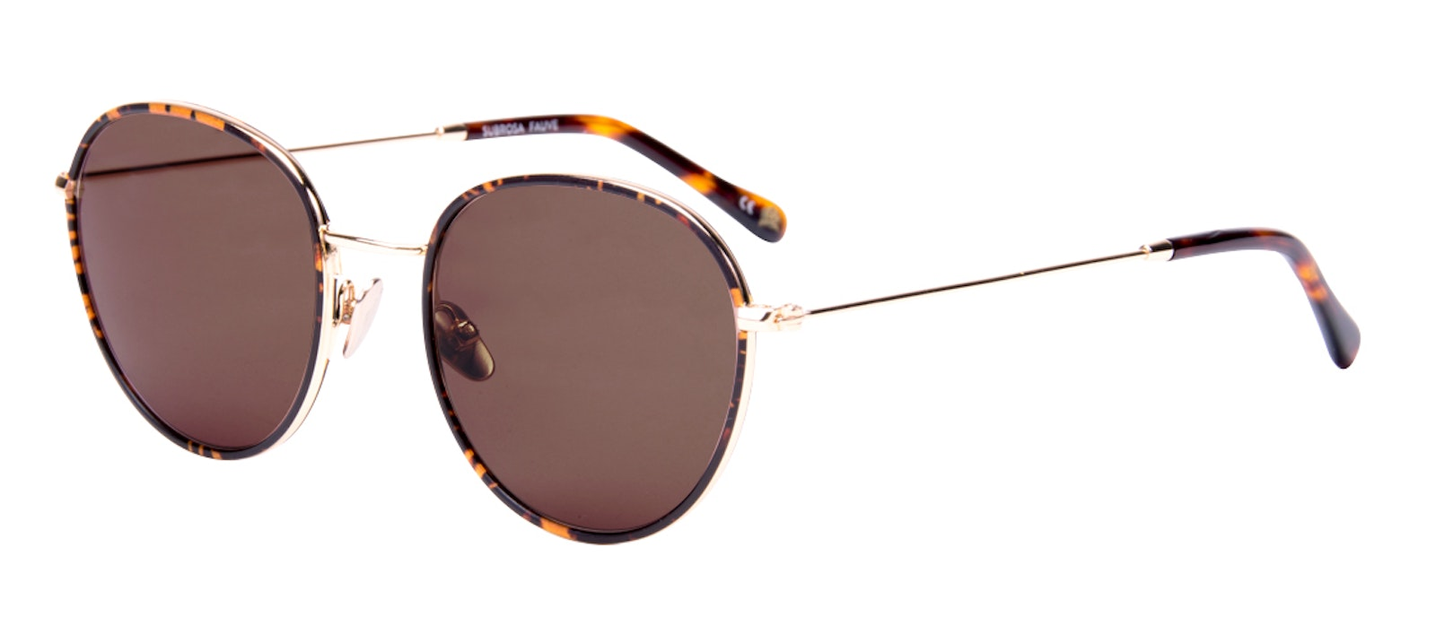 Affordable Fashion Glasses Round Sunglasses Women Subrosa Fauve Tilt