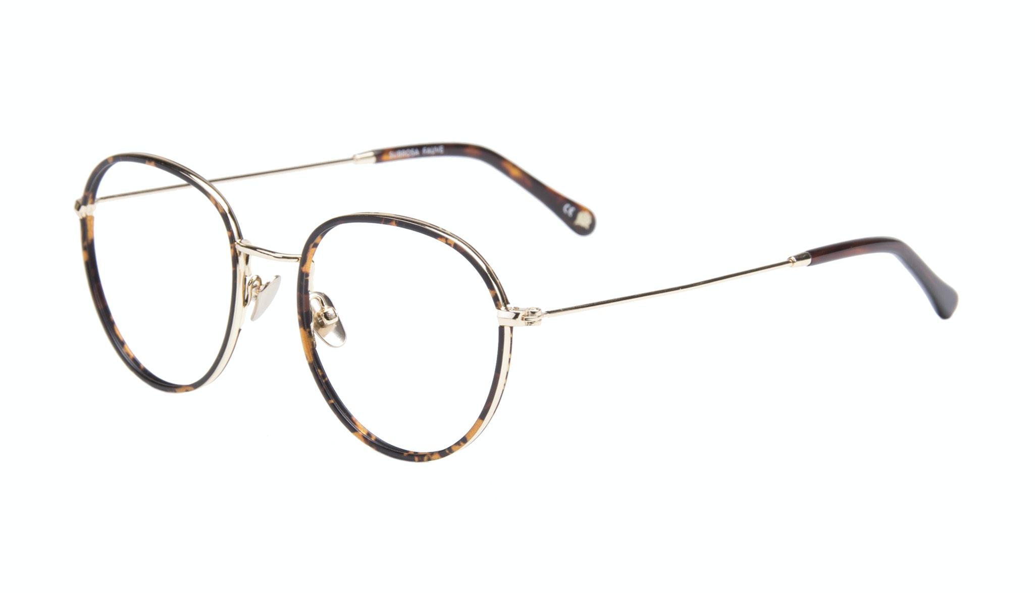 Affordable Fashion Glasses Aviator Round Eyeglasses Women Subrosa Fauve Tilt