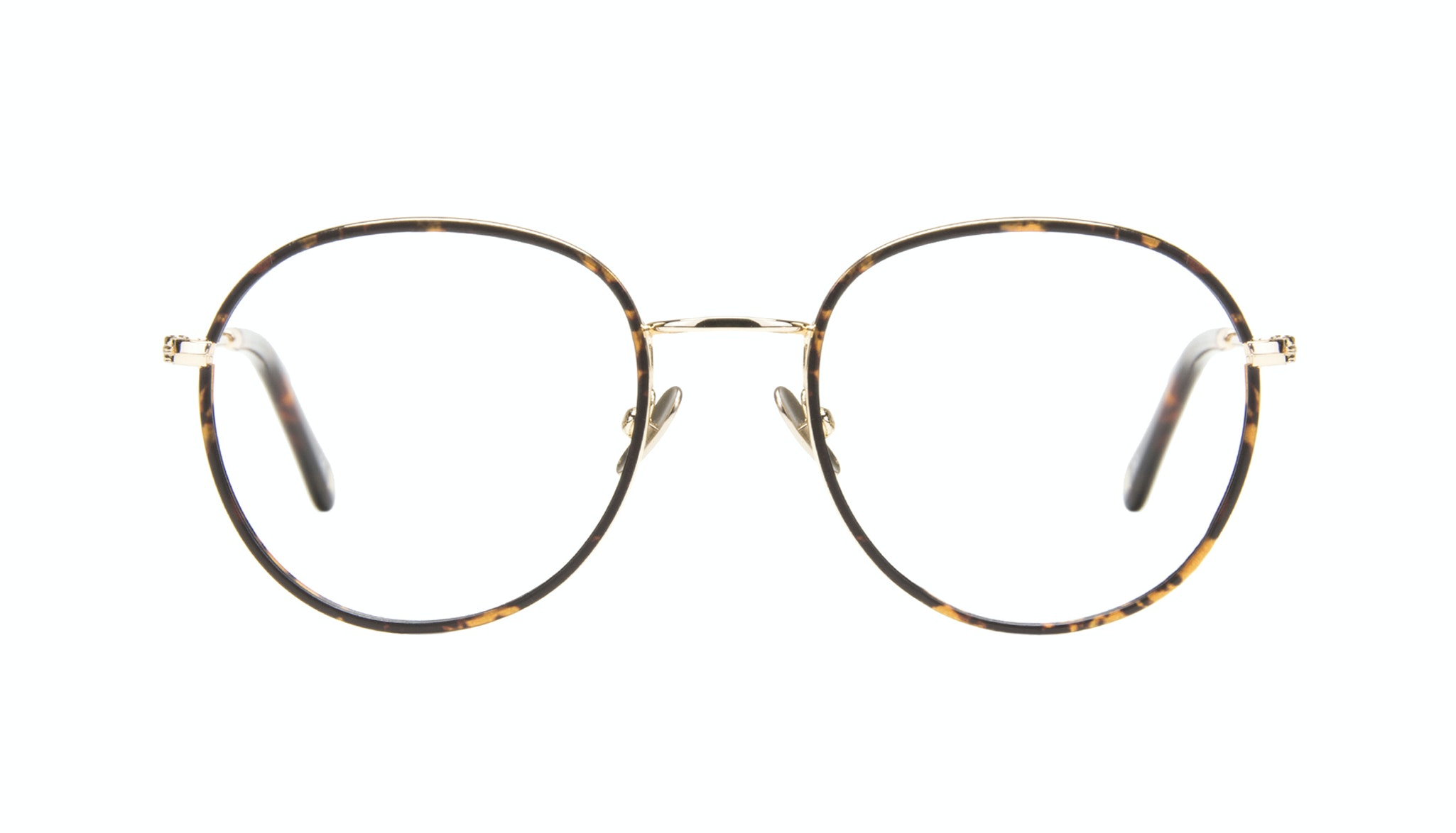 Affordable Fashion Glasses Aviator Round Eyeglasses Women Subrosa Fauve Front