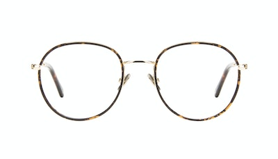 Affordable Fashion Glasses Round Eyeglasses Women Subrosa Fauve Front