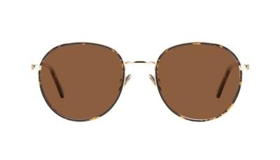 Affordable Fashion Glasses Round Sunglasses Women Subrosa Fauve Front