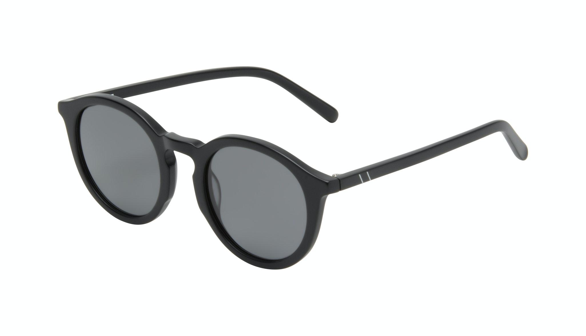 Affordable Fashion Glasses Round Sunglasses Men Thrill Onyx Matte Tilt