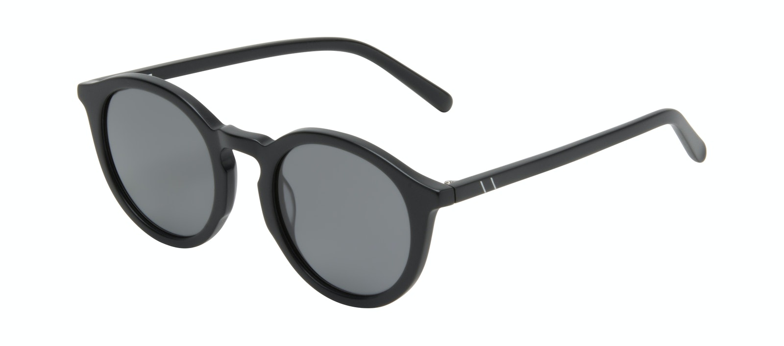 Affordable Fashion Glasses Round Sunglasses Men Thrill Onyx Matte Tilt