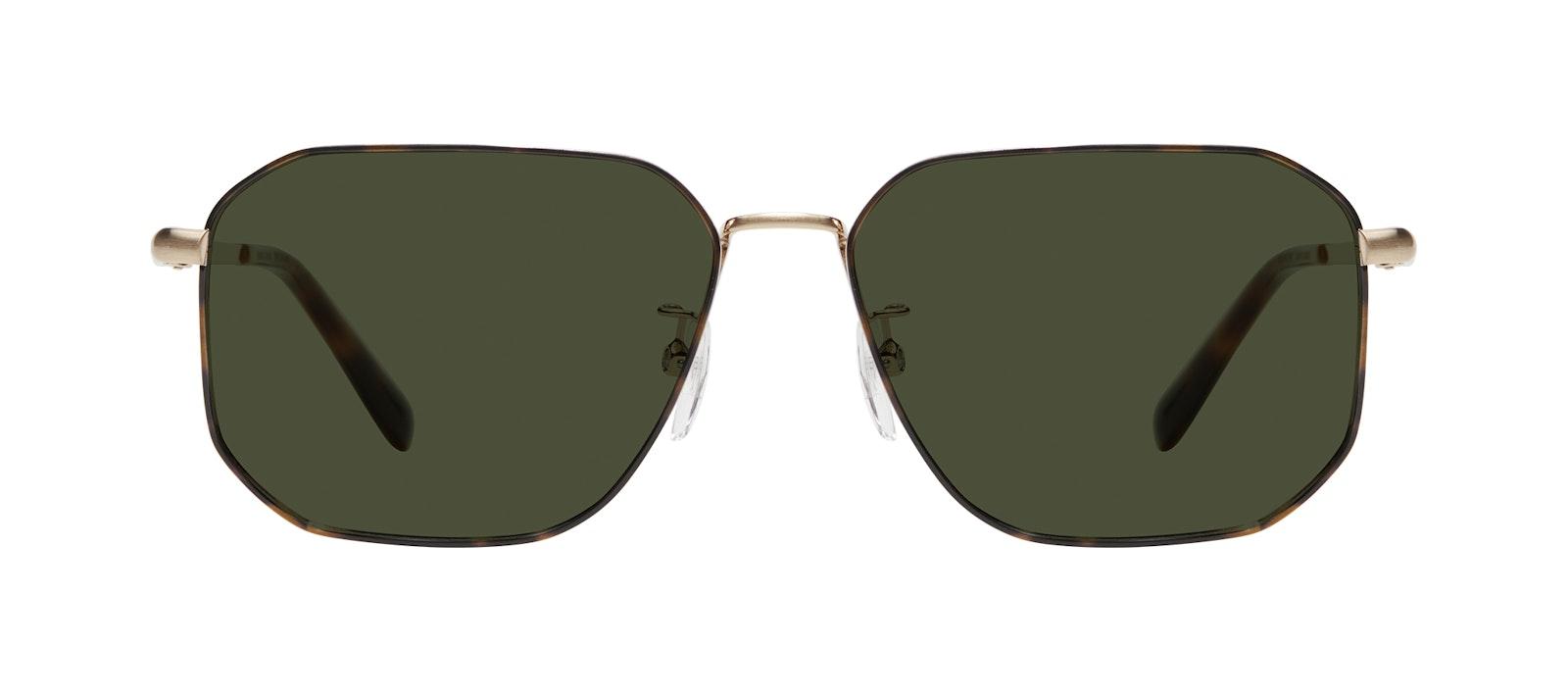 Affordable Fashion Glasses Square Sunglasses Men Timeless Tortoise Front