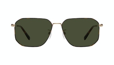 Affordable Fashion Glasses Square Sunglasses Men Timeless Tortoise Front