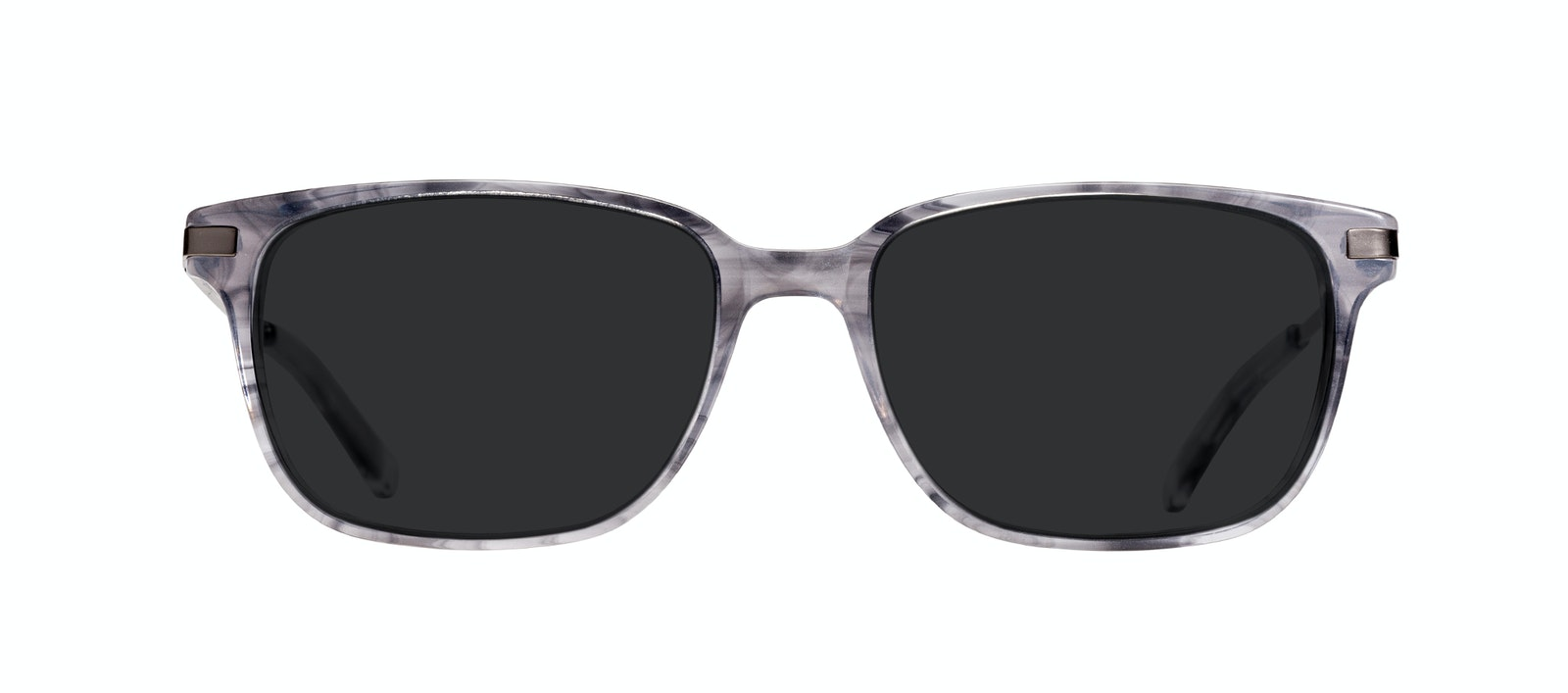Affordable Fashion Glasses Rectangle Sunglasses Men Trade Smokey Grey Front