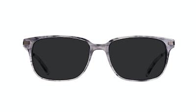 Affordable Fashion Glasses Rectangle Sunglasses Men Trade Smokey Grey Front