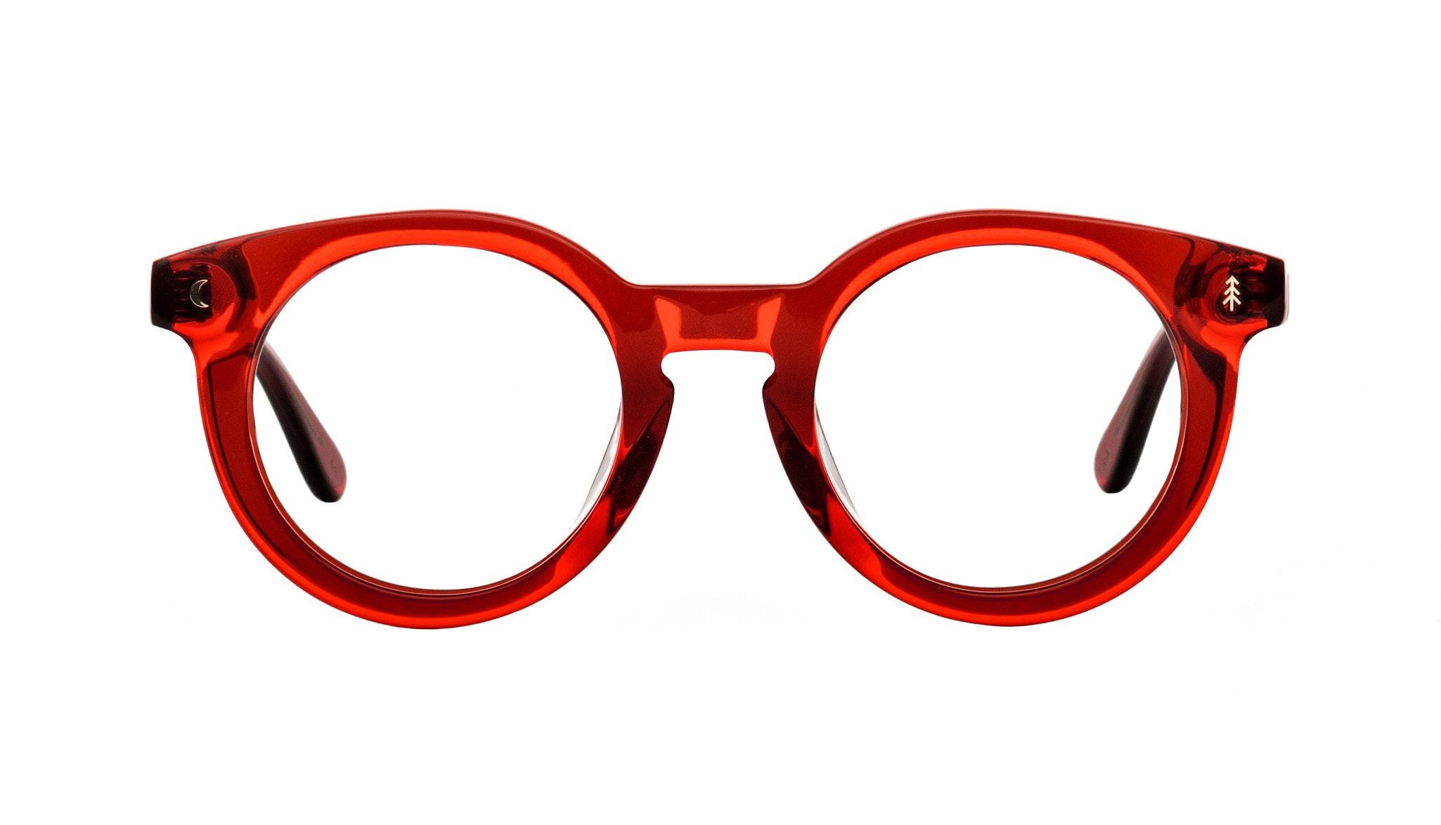 Affordable Fashion Glasses Round Eyeglasses Women Trailblazer Kindled Red Front