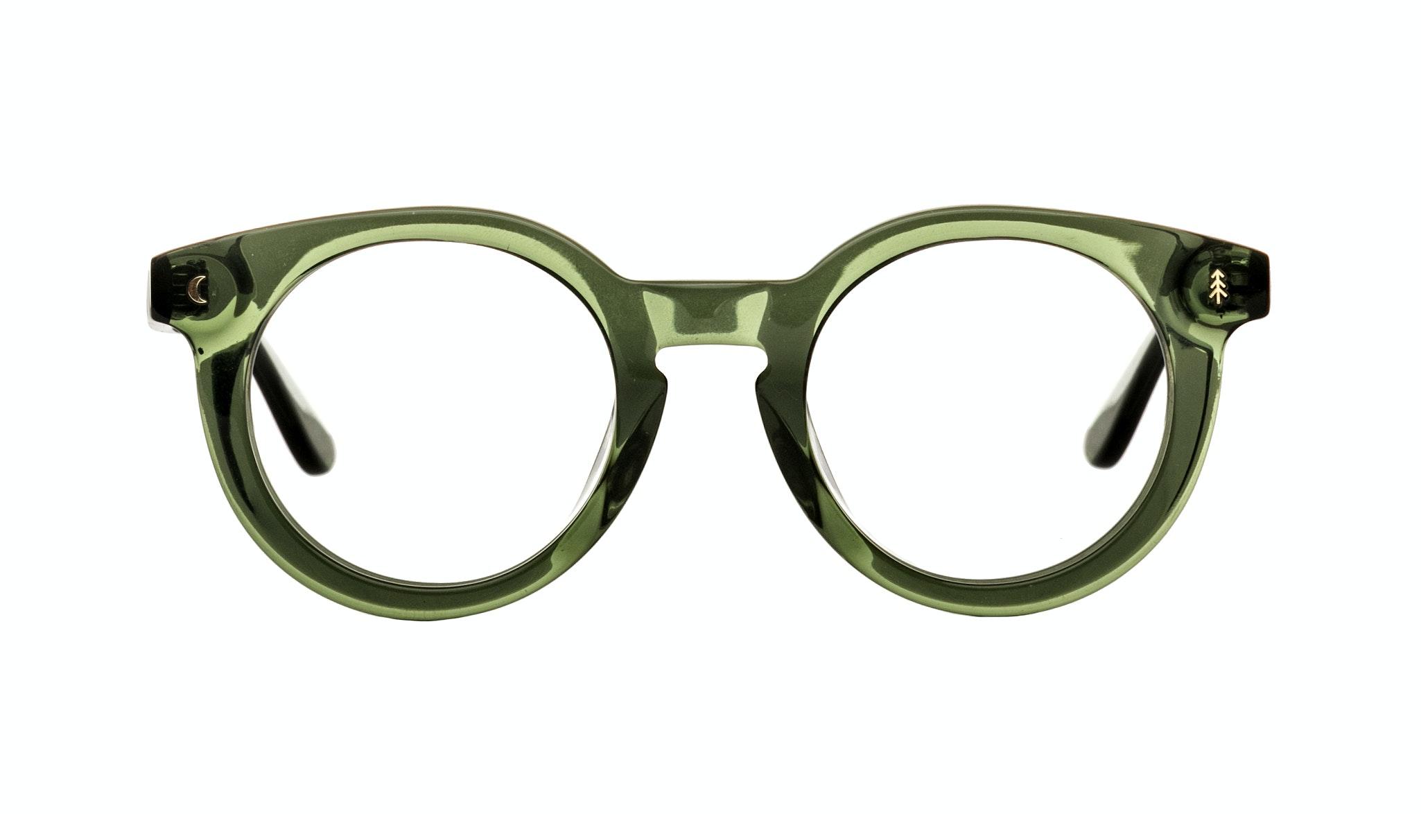 Affordable Fashion Glasses Round Eyeglasses Women Trailblazer Moss Green Front