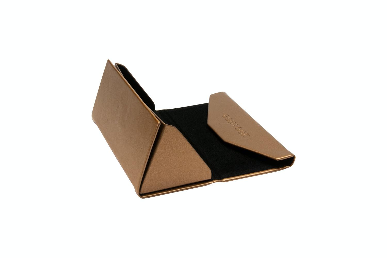 Lunettes tendance Accessoire Femmes Triangle Envelop Case Copper Profil