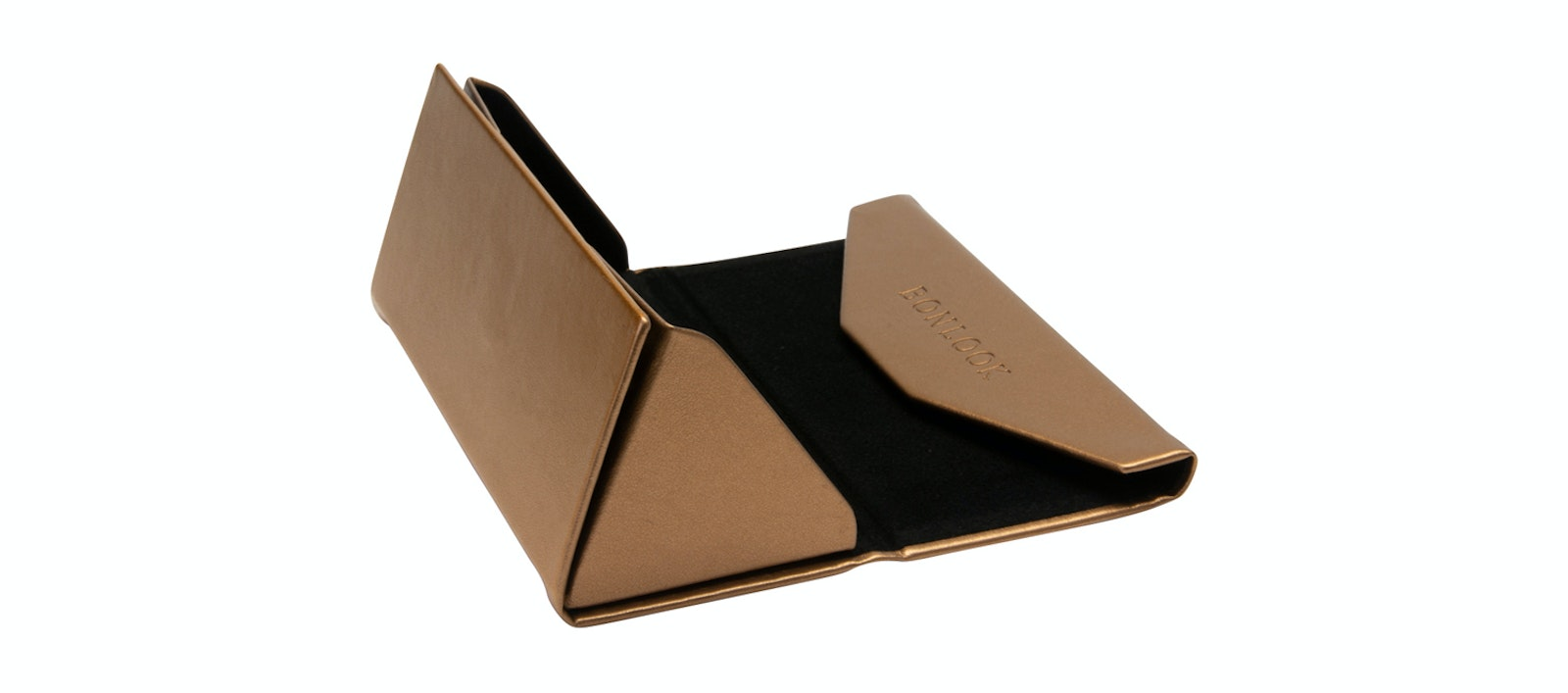 Affordable Fashion Glasses Accessory Women Triangle Envelop Case Copper Side