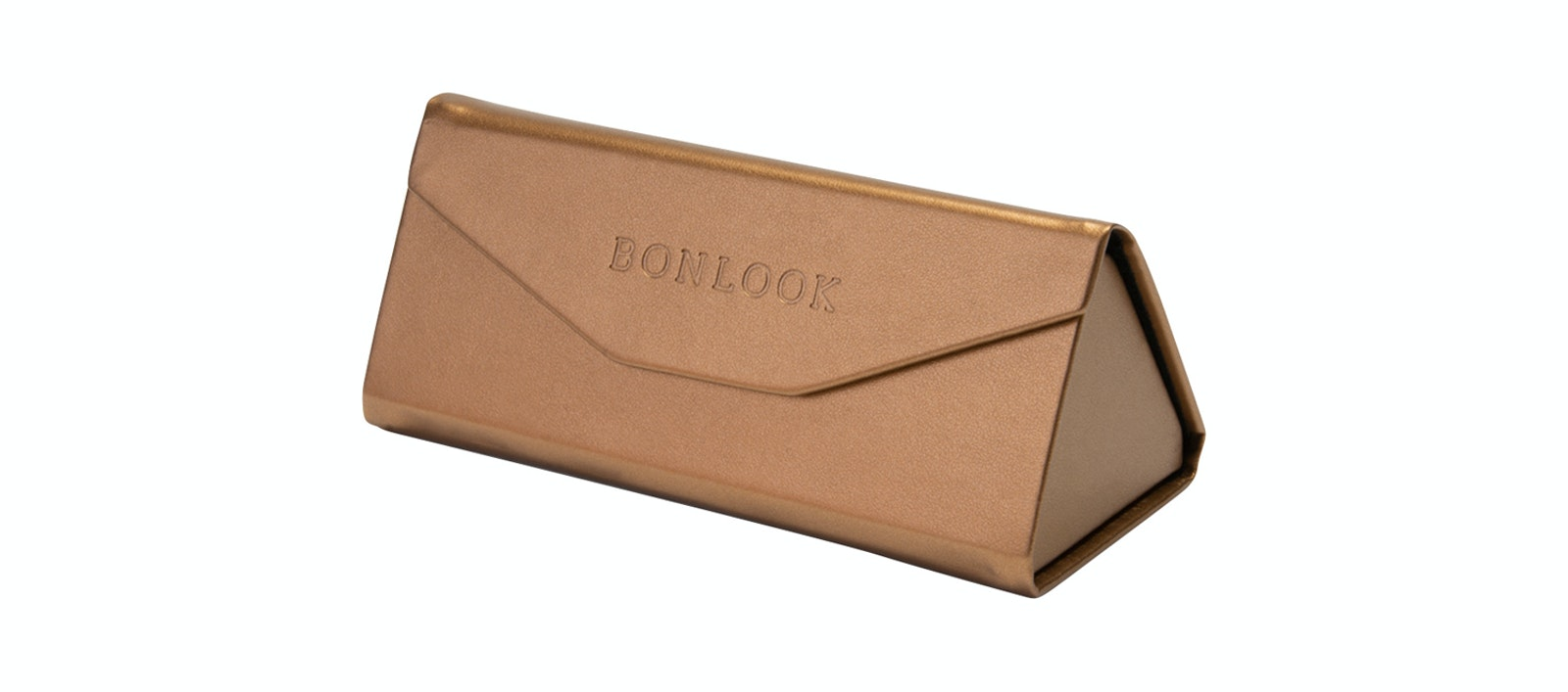 Lunettes tendance Accessoire Femmes Triangle Envelop Case Copper Incliné
