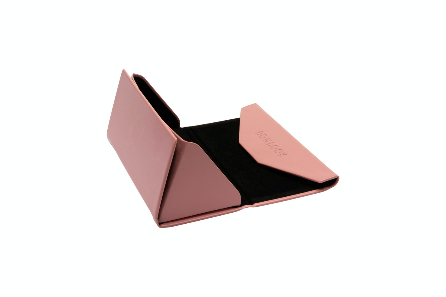 Affordable Fashion Glasses Accessory Women Triangle Envelop Case Rose Side