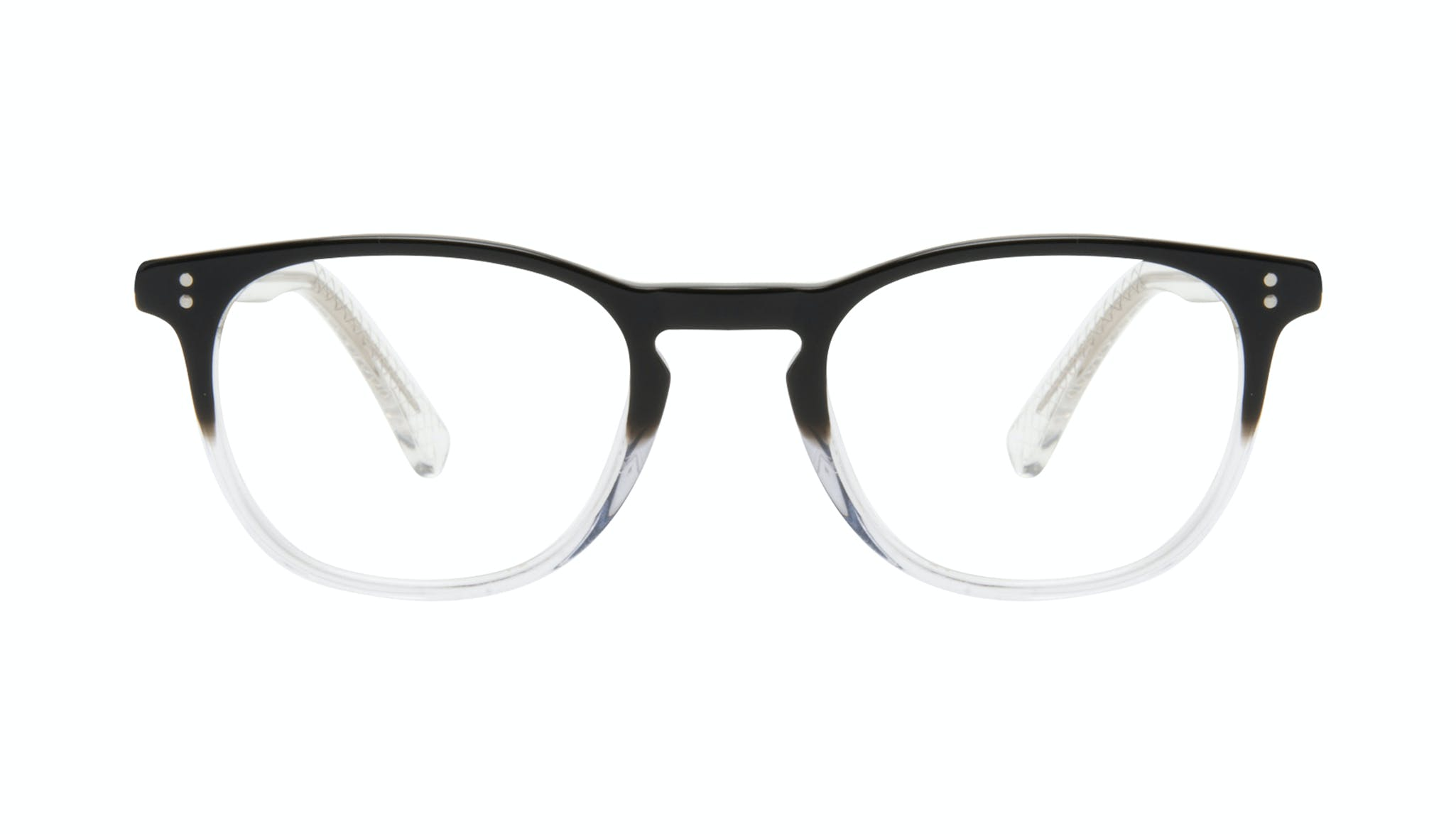 Affordable Fashion Glasses Round Eyeglasses Men Trooper Onyx Clear Front