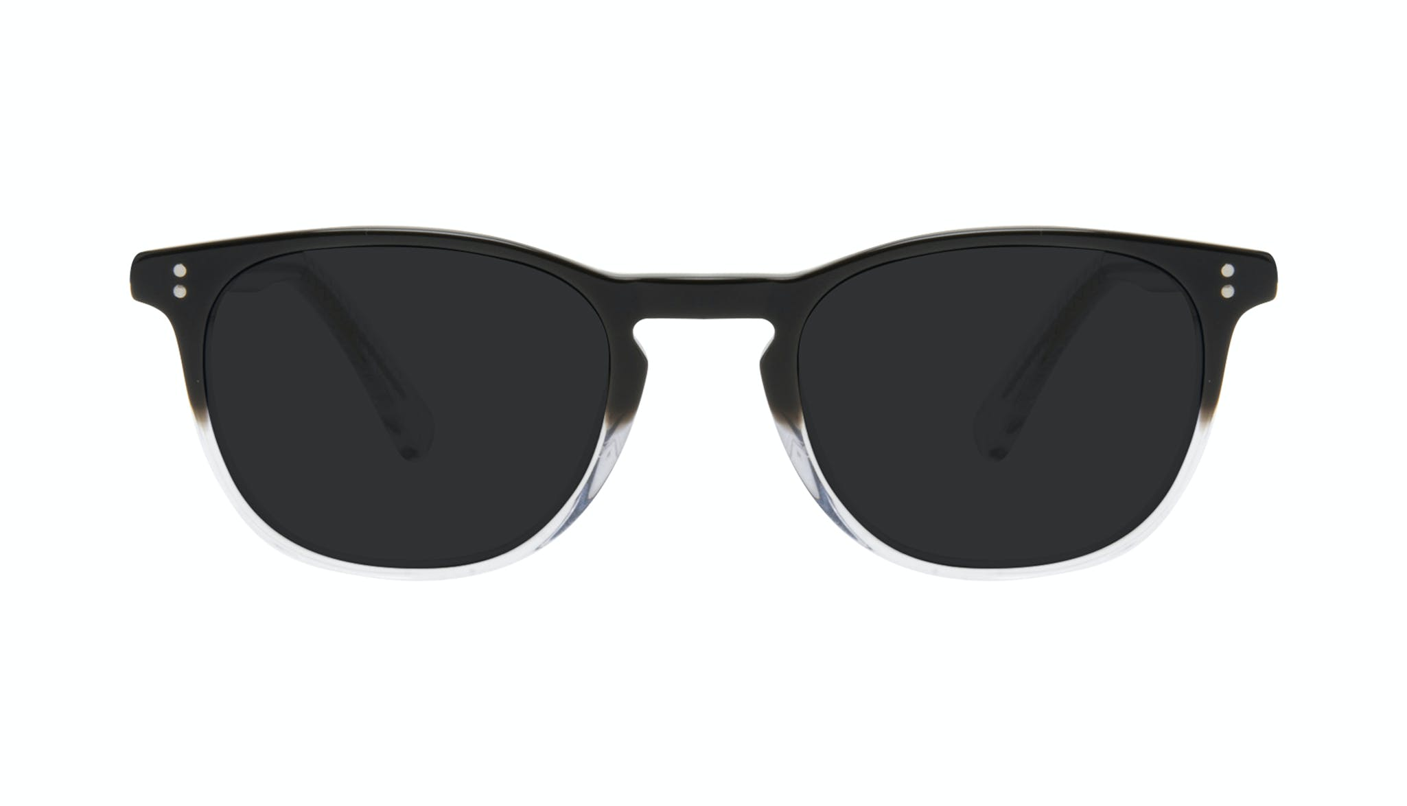 Affordable Fashion Glasses Round Sunglasses Men Trooper Onyx Clear Front