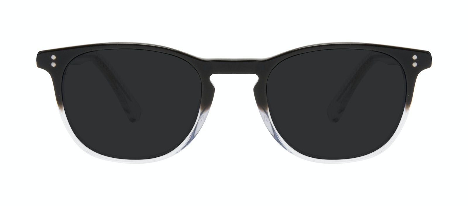 Affordable Fashion Glasses Round Sunglasses Men Trooper M Onyx Clear Front