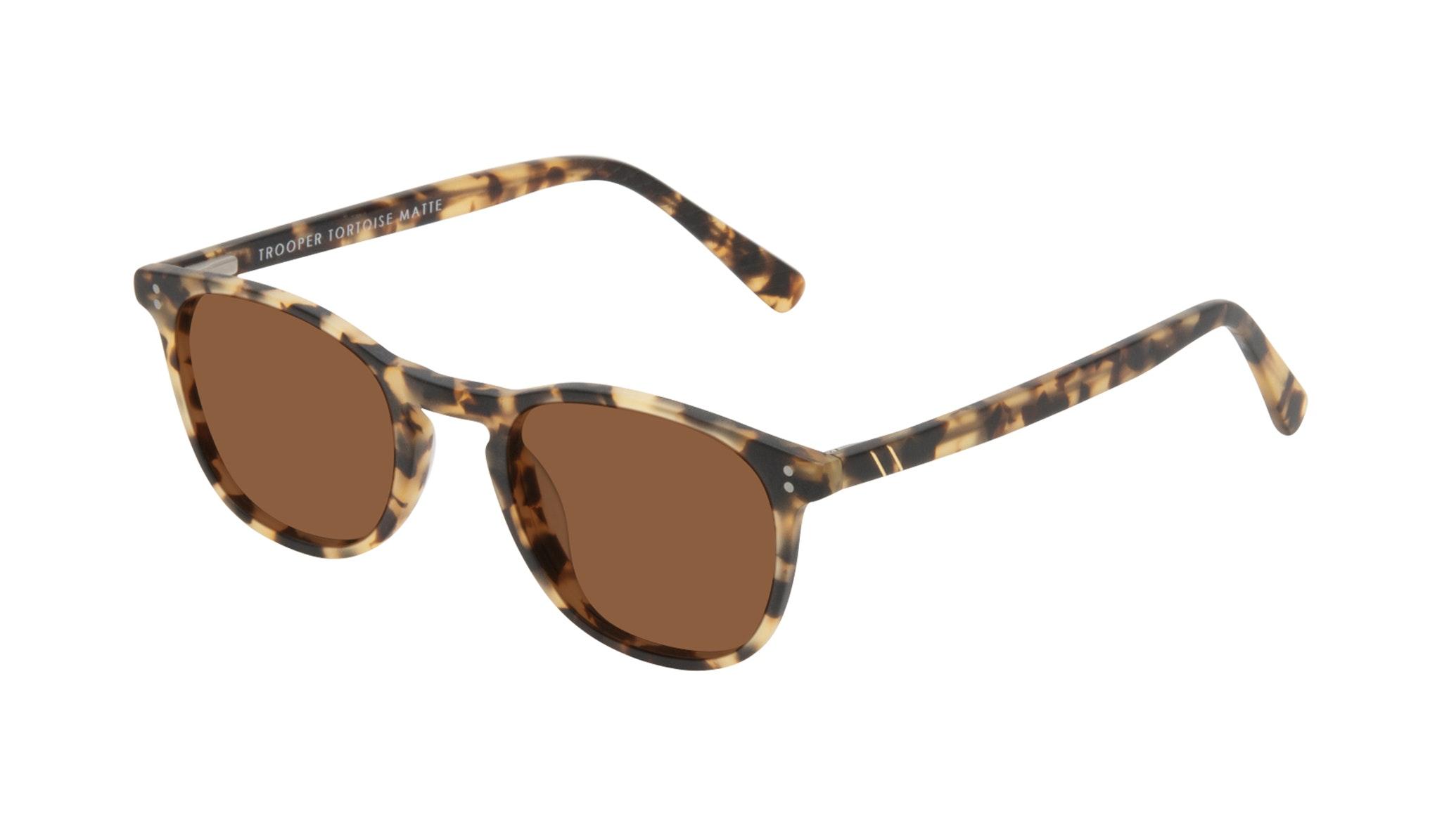 Affordable Fashion Glasses Round Sunglasses Men Trooper Tortoise Matte Tilt
