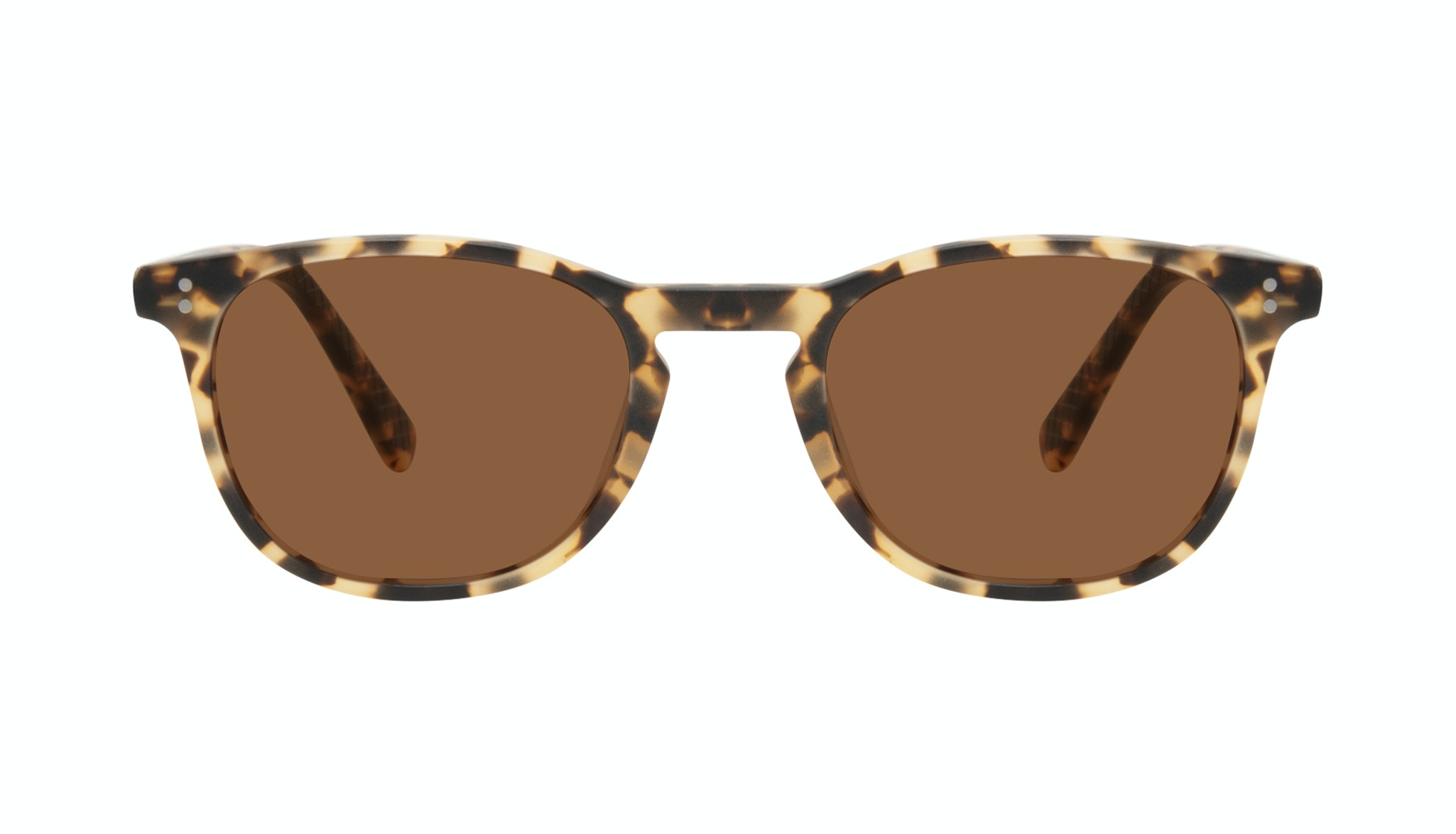 Affordable Fashion Glasses Round Sunglasses Men Trooper Tortoise Matte Front
