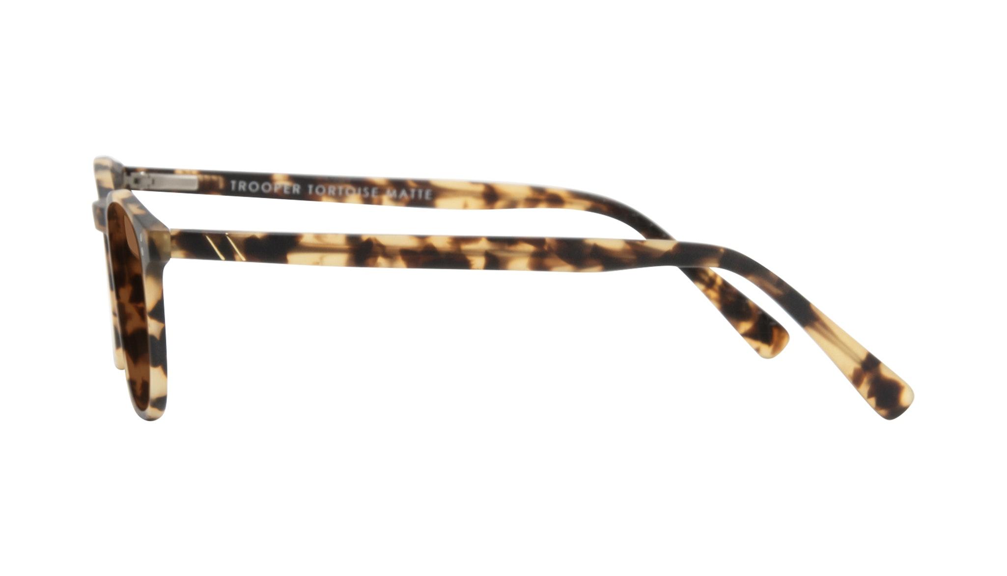 Affordable Fashion Glasses Round Sunglasses Men Trooper Tortoise Matte Side