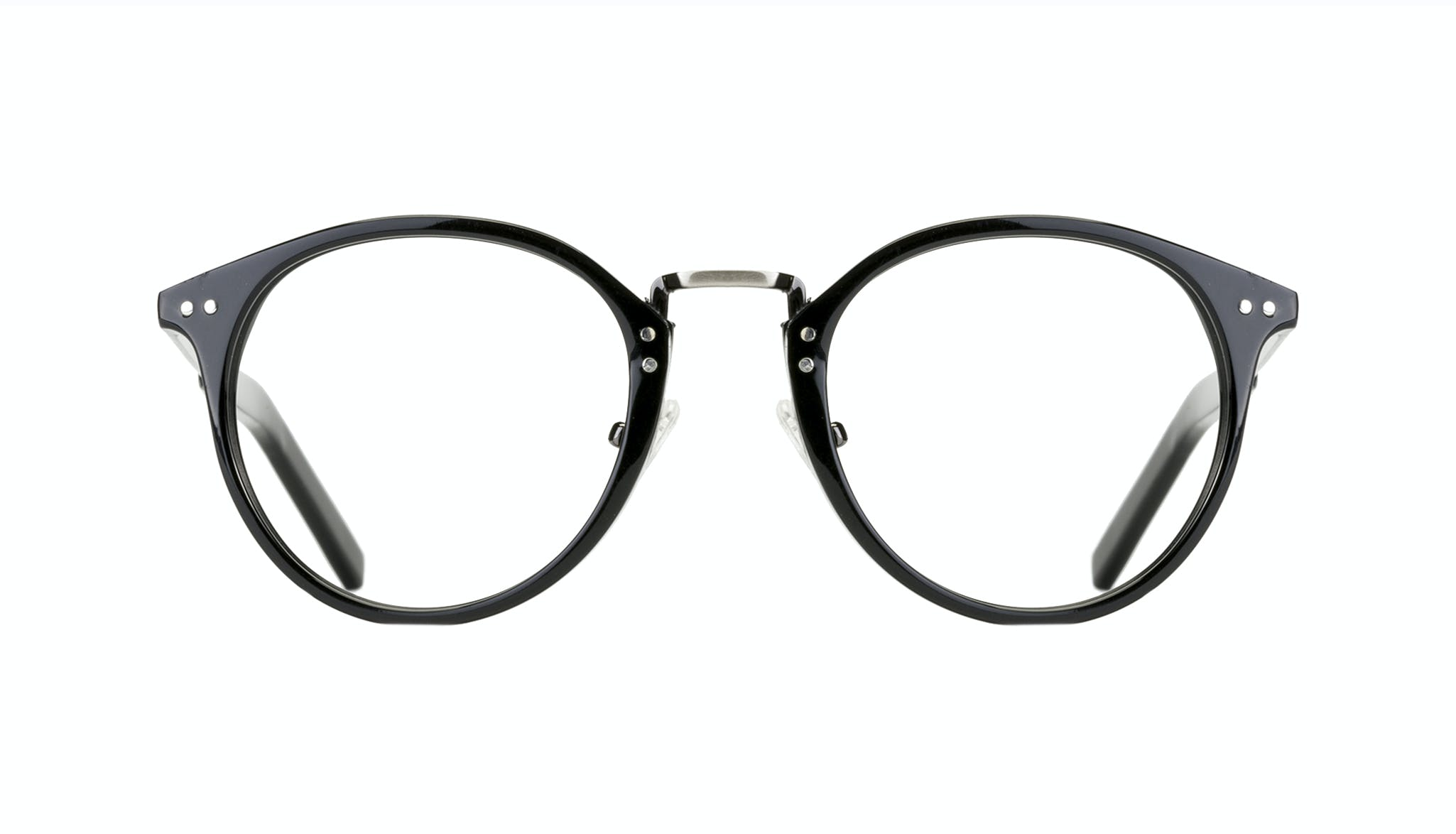Affordable Fashion Glasses Round Eyeglasses Men Truly Black Front