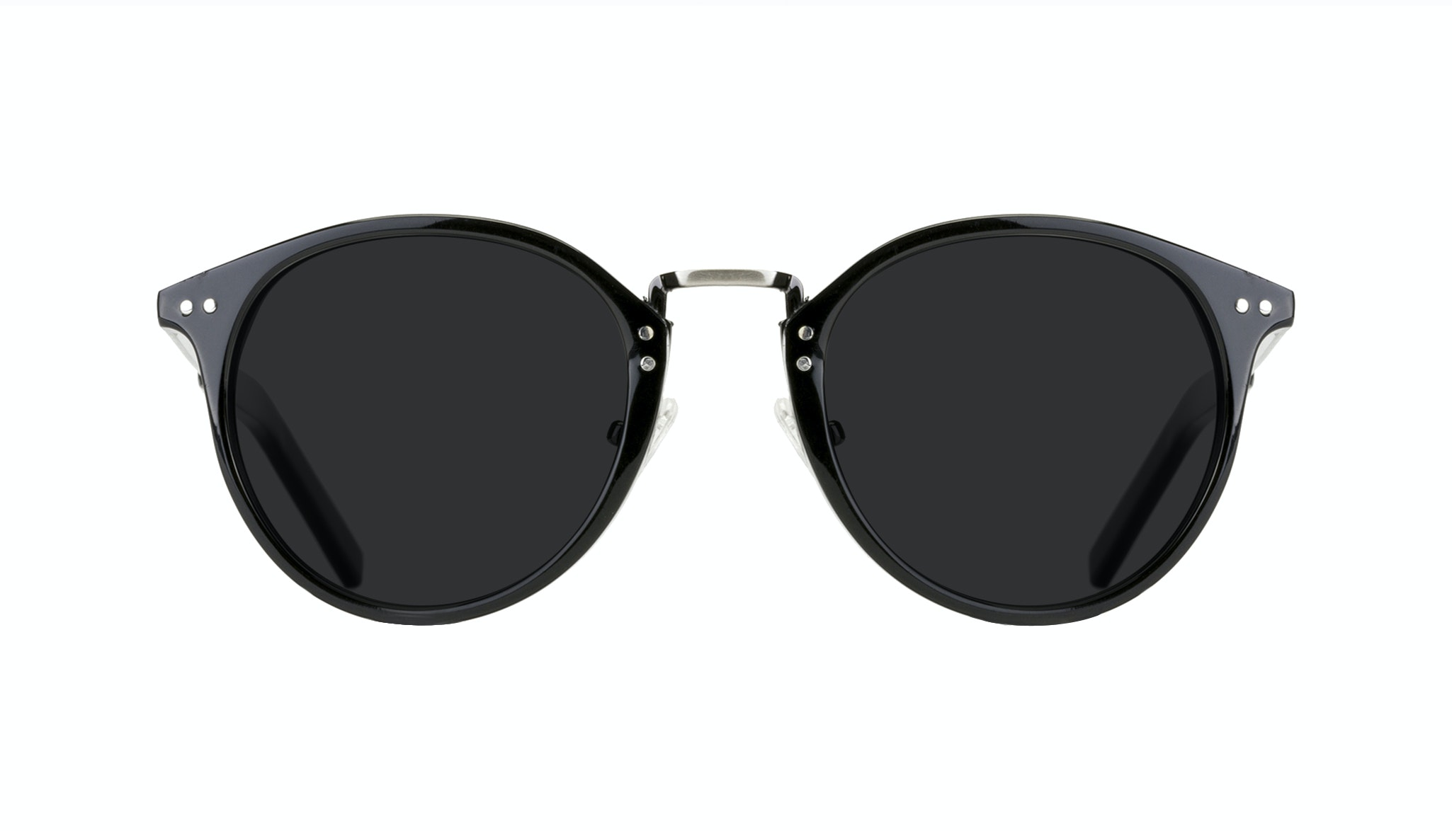 Affordable Fashion Glasses Round Sunglasses Men Truly Black Front