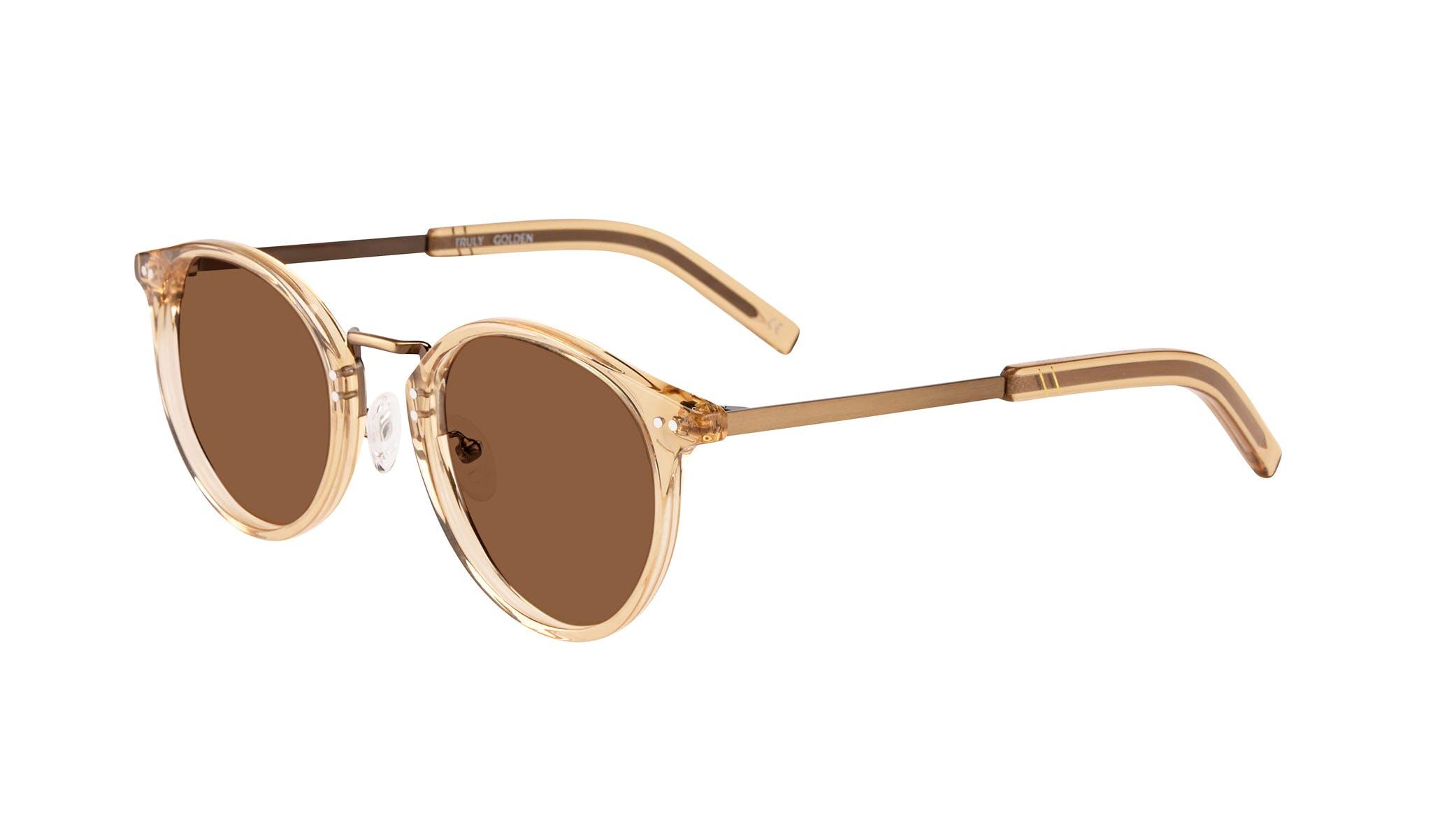 Affordable Fashion Glasses Round Sunglasses Men Truly Golden Tilt