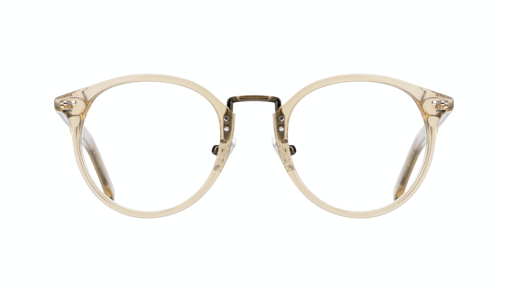Affordable Fashion Glasses Round Eyeglasses Men Truly Golden Front