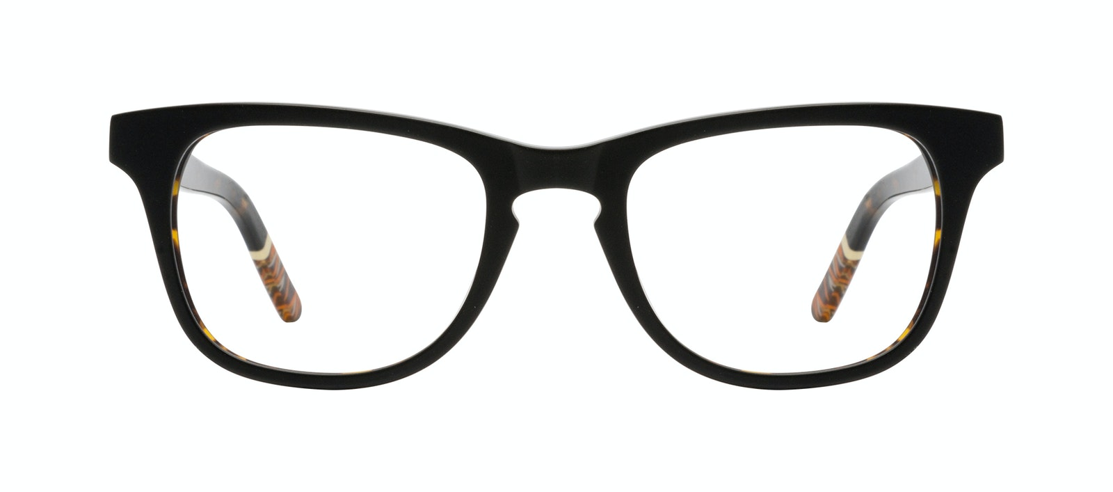 Affordable Fashion Glasses Rectangle Eyeglasses Men Trust Black Tort Front