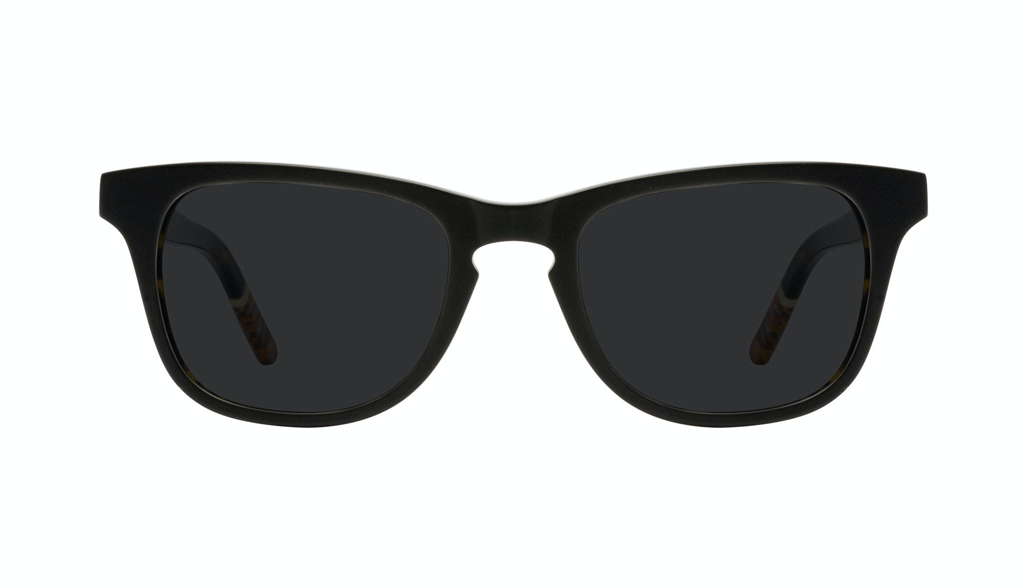Affordable Fashion Glasses Rectangle Sunglasses Men Trust Black Tort Front