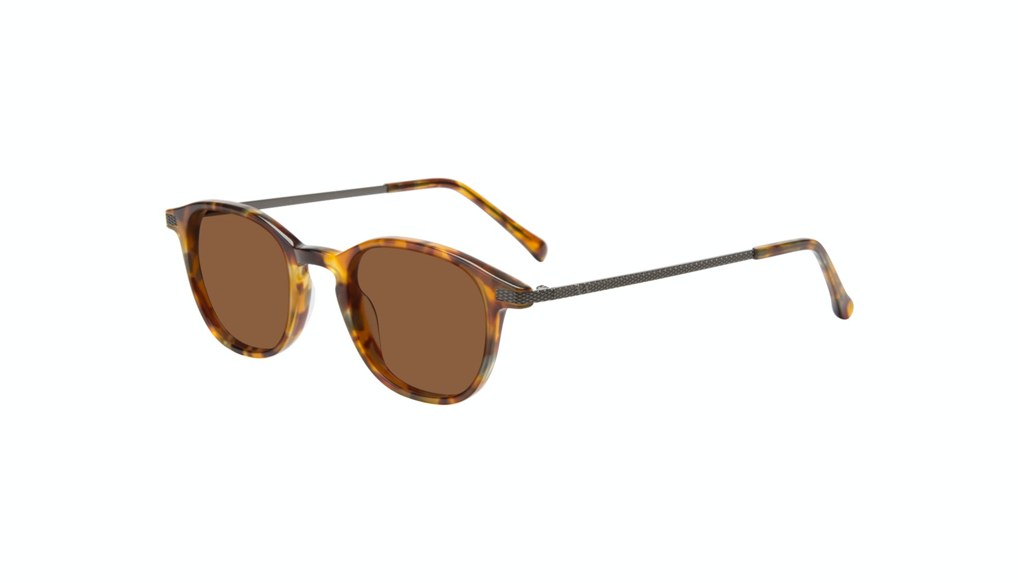 Affordable Fashion Glasses Round Sunglasses Men Tux Havana Tort Tilt