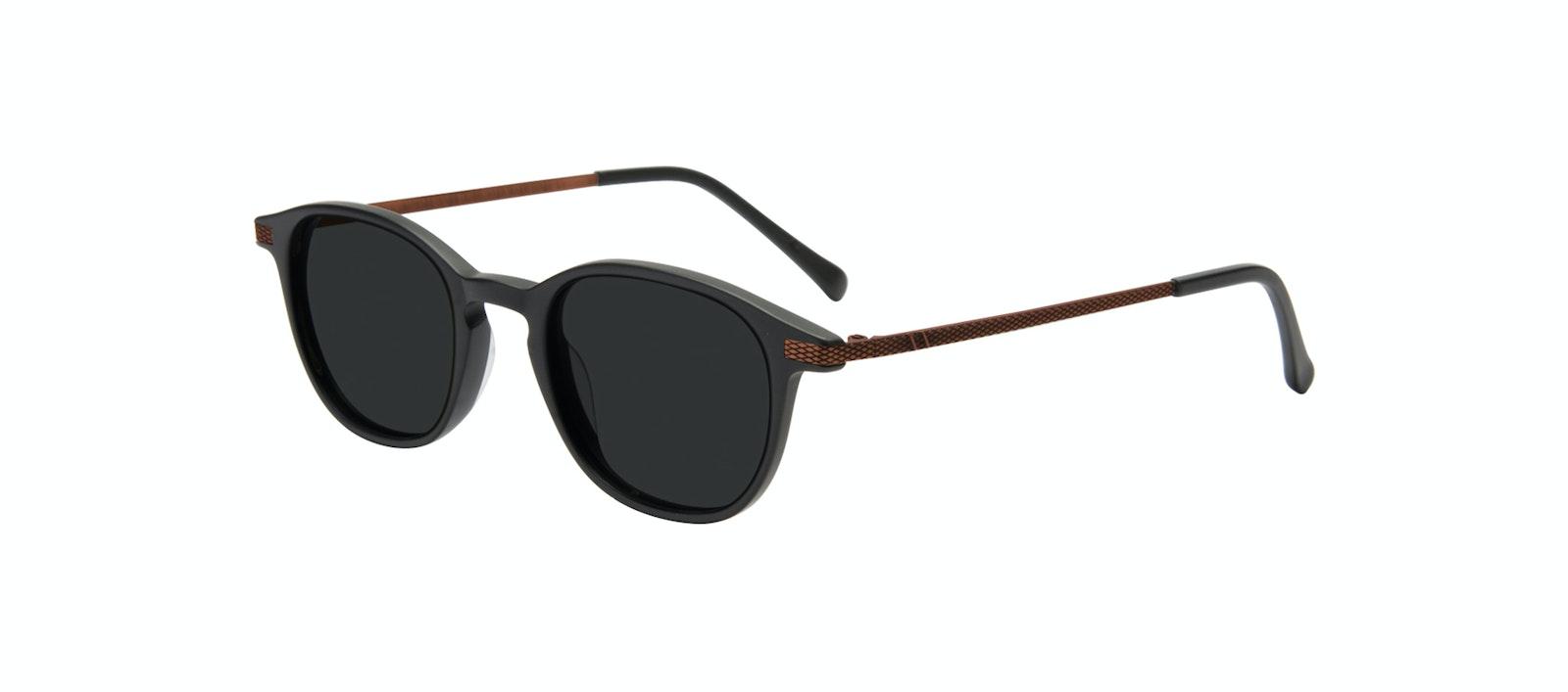 Affordable Fashion Glasses Round Sunglasses Men Tux Onyx Matte Tilt