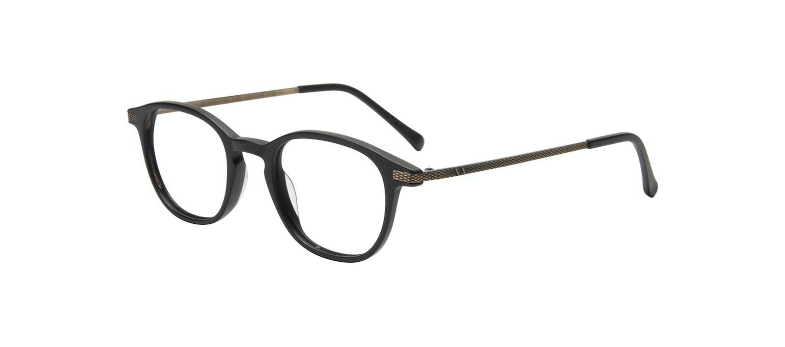 Affordable Fashion Glasses Round Eyeglasses Men Tux Onyx Matte Tilt