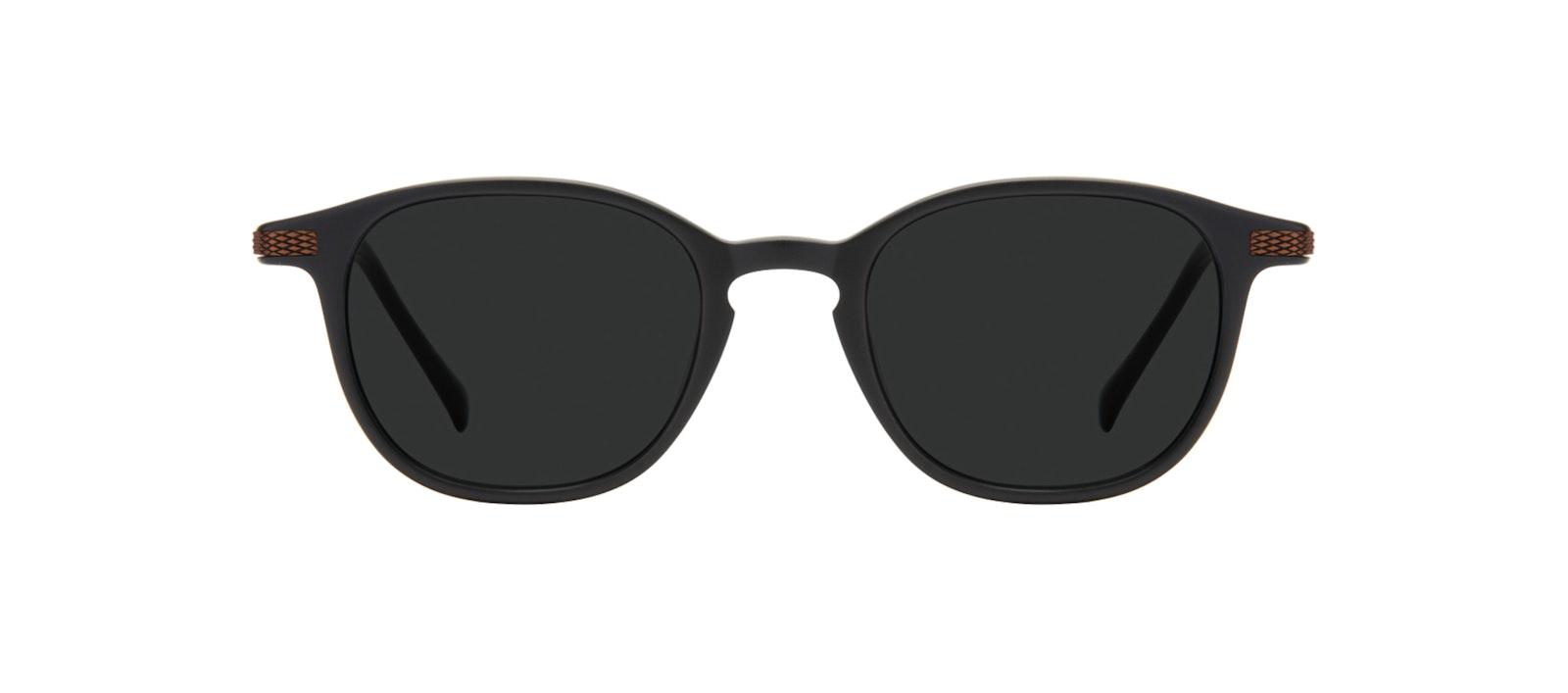 Affordable Fashion Glasses Round Sunglasses Men Tux Onyx Matte Front