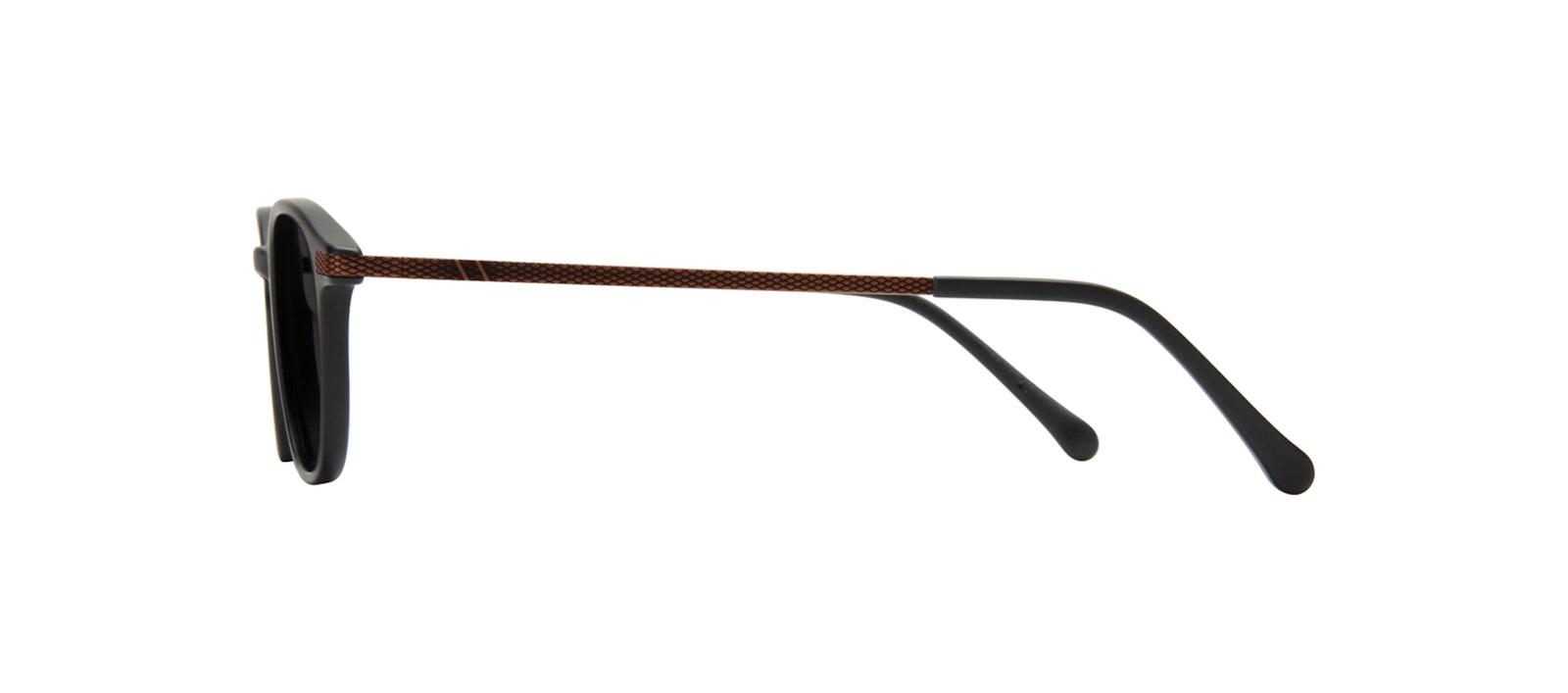 Affordable Fashion Glasses Round Sunglasses Men Tux Onyx Matte Side