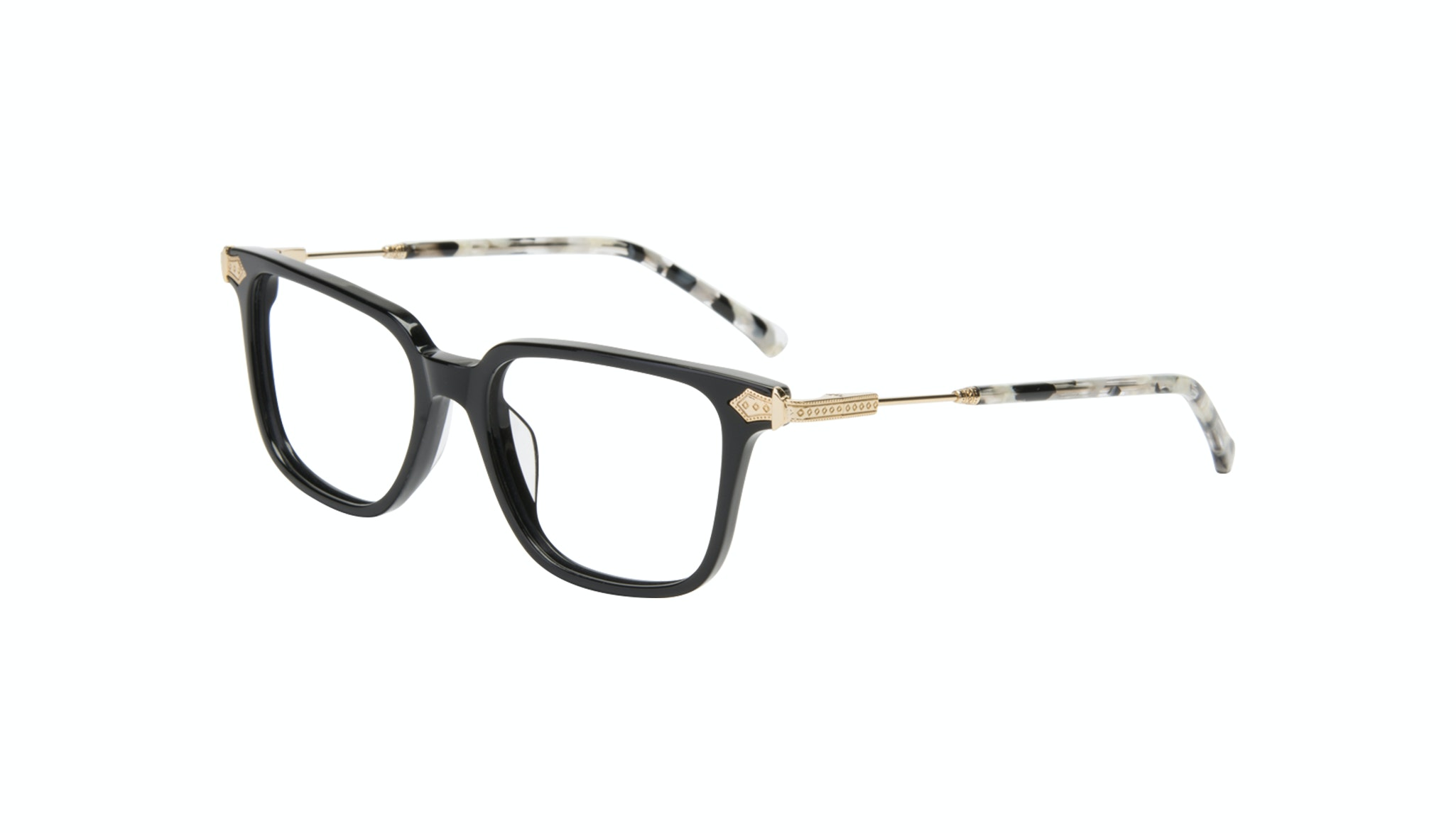 Affordable Fashion Glasses Square Eyeglasses Women Twinkle Onyx Marble Tilt