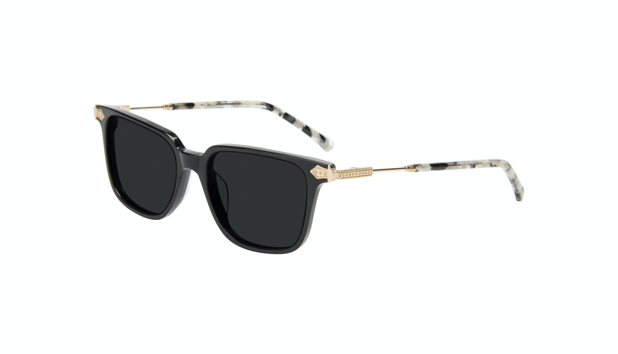 Affordable Fashion Glasses Square Sunglasses Women Twinkle Onyx Marble Tilt