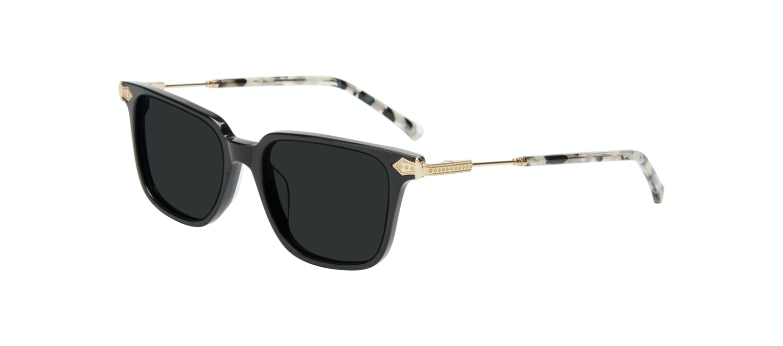 Affordable Fashion Glasses Square Sunglasses Women Twinkle Onyx Marble Tilt