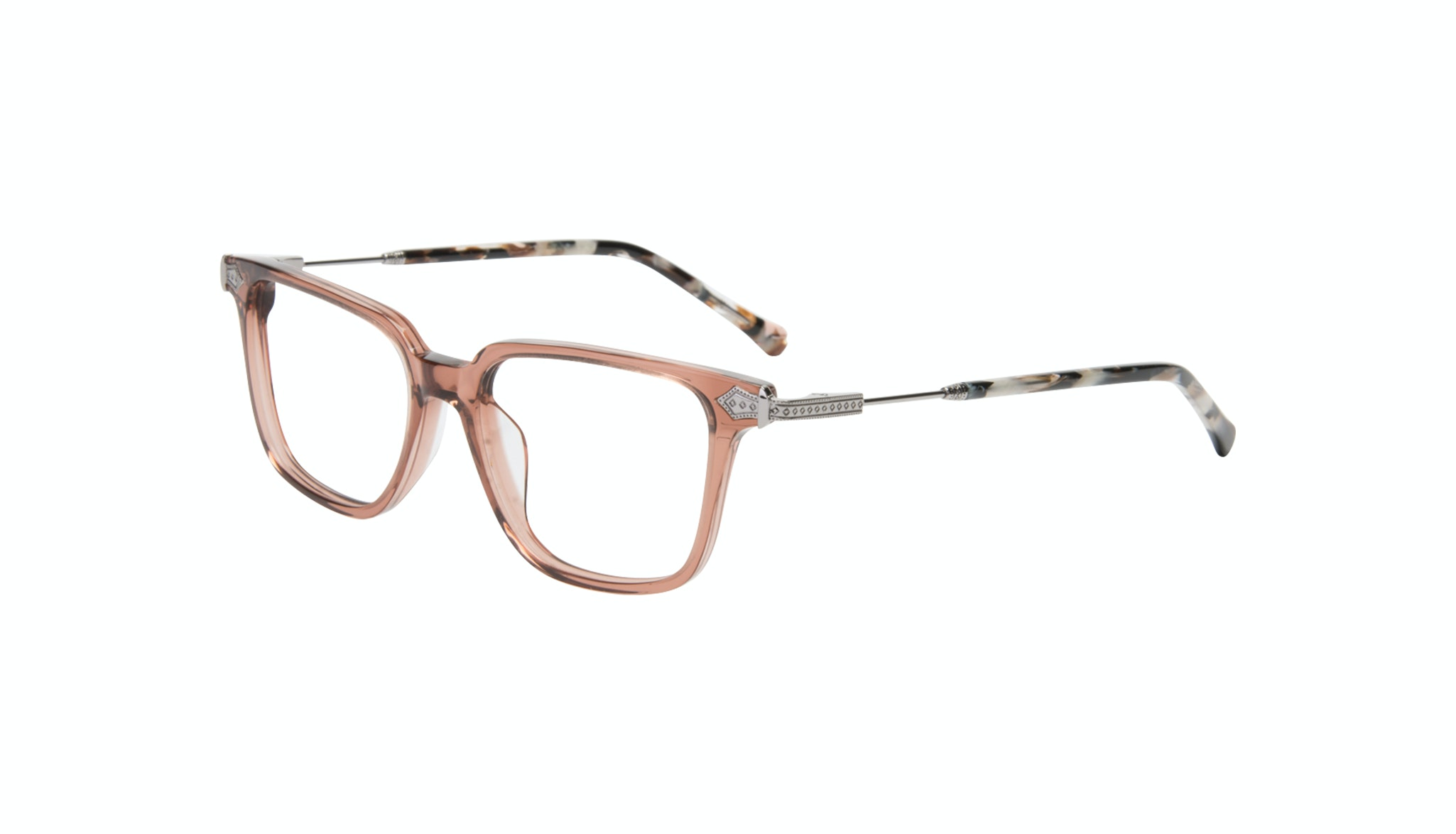 Affordable Fashion Glasses Square Eyeglasses Women Twinkle Truffle Rose Tilt